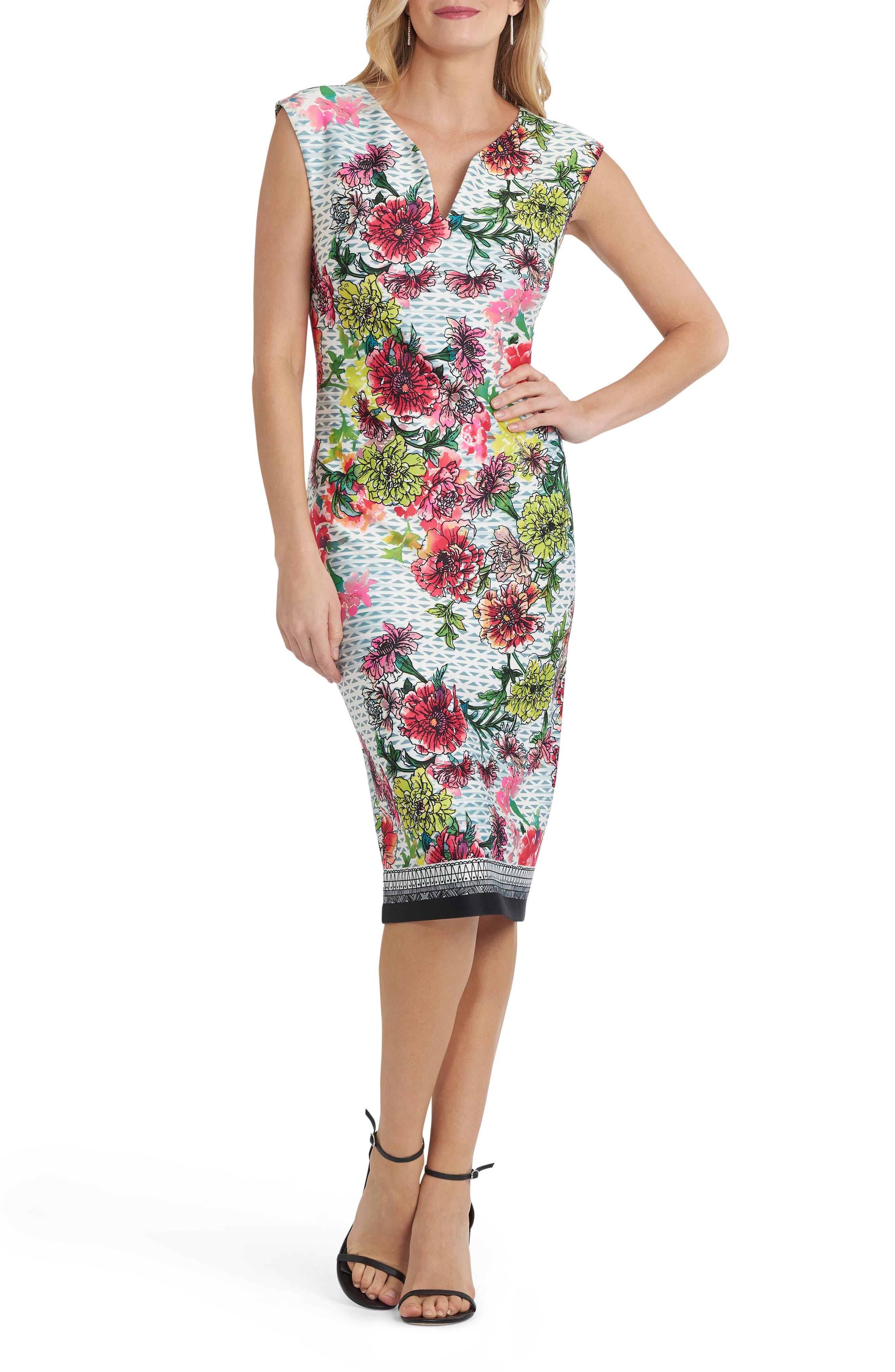 ECI Print Body-Con Dress