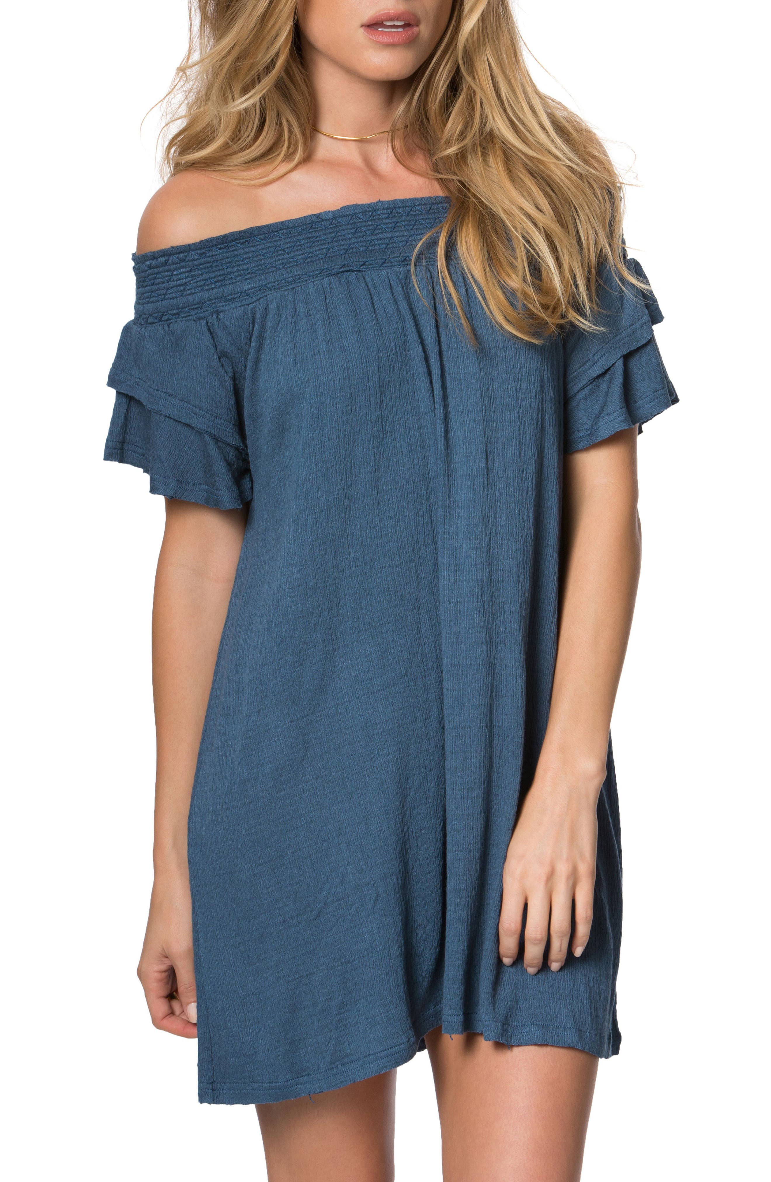 O'Neill Augustina Off the Shoulder Dress