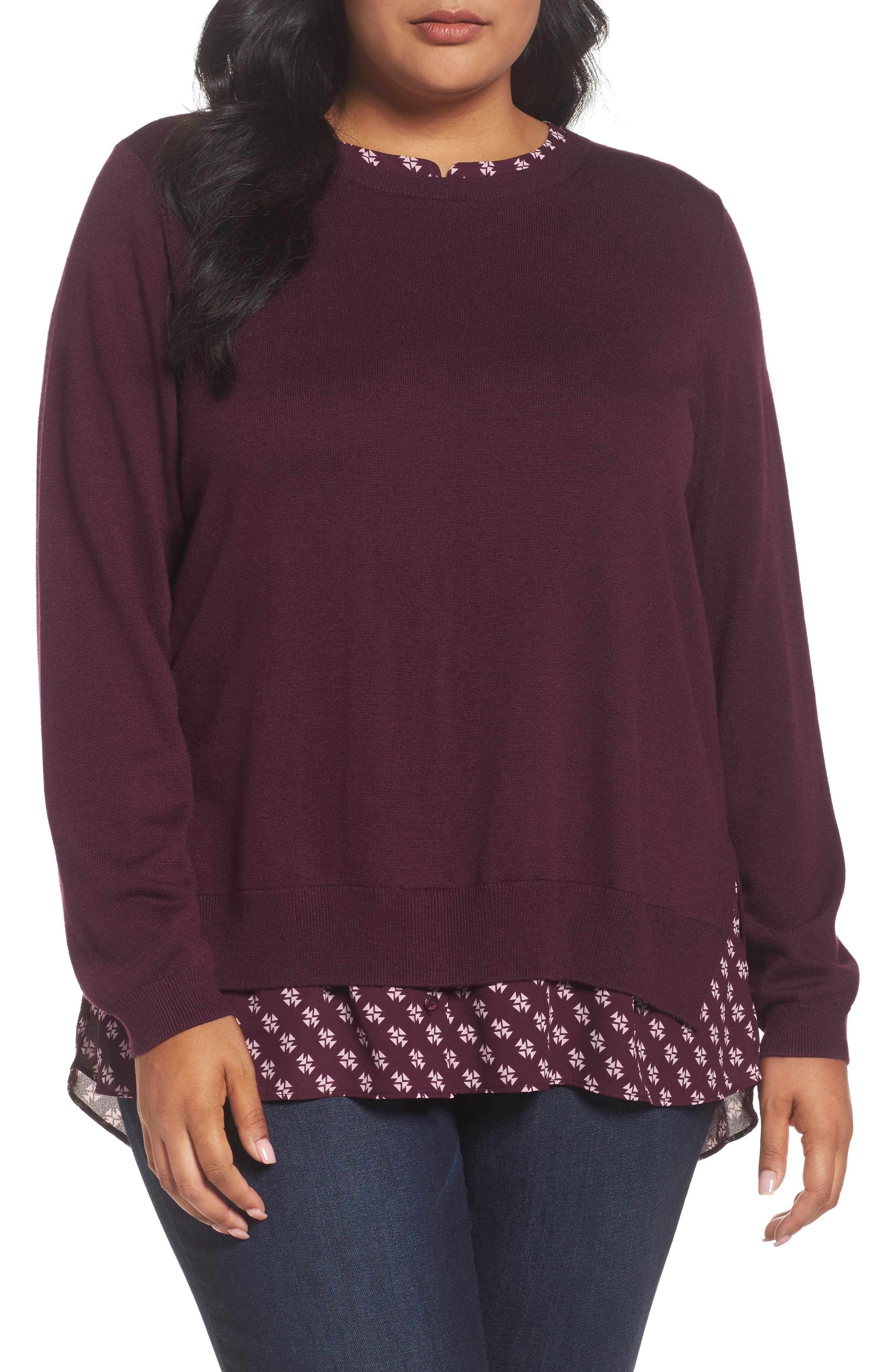 NYDJ Layer Look Sweater (Plus Size)