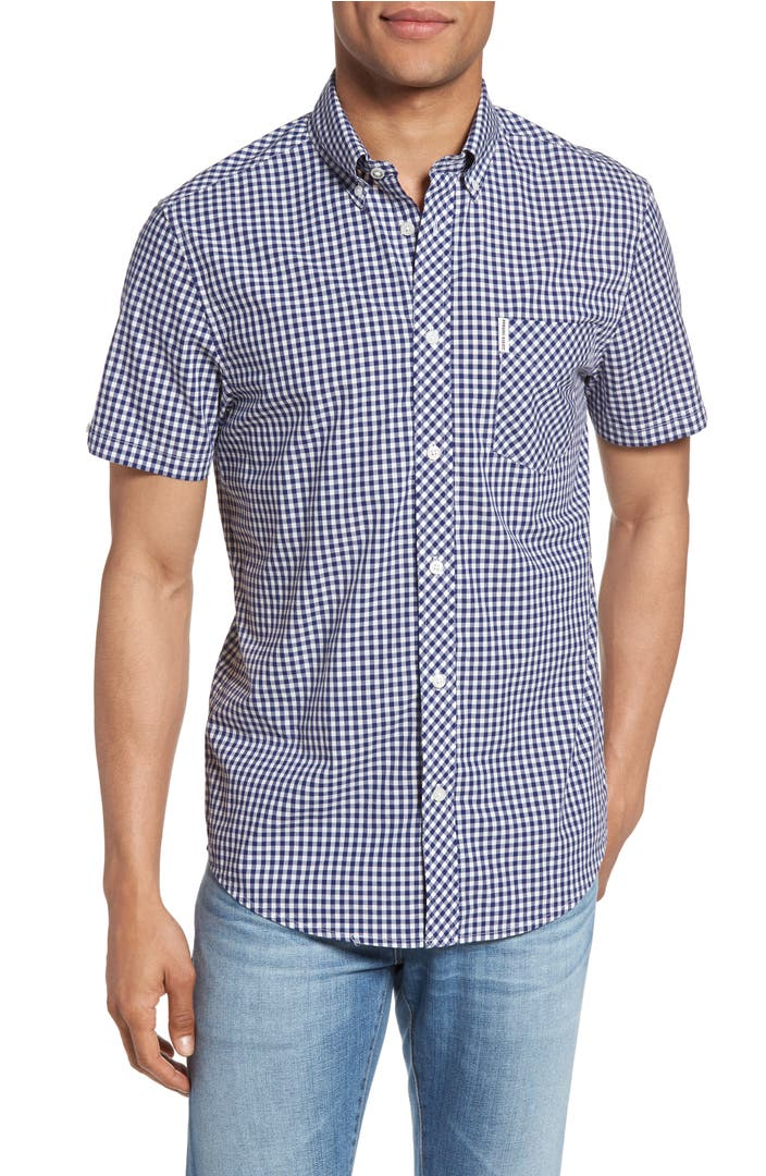 Ben sherman core mod fit gingham shirt nordstrom for Tailored fit shirts meaning