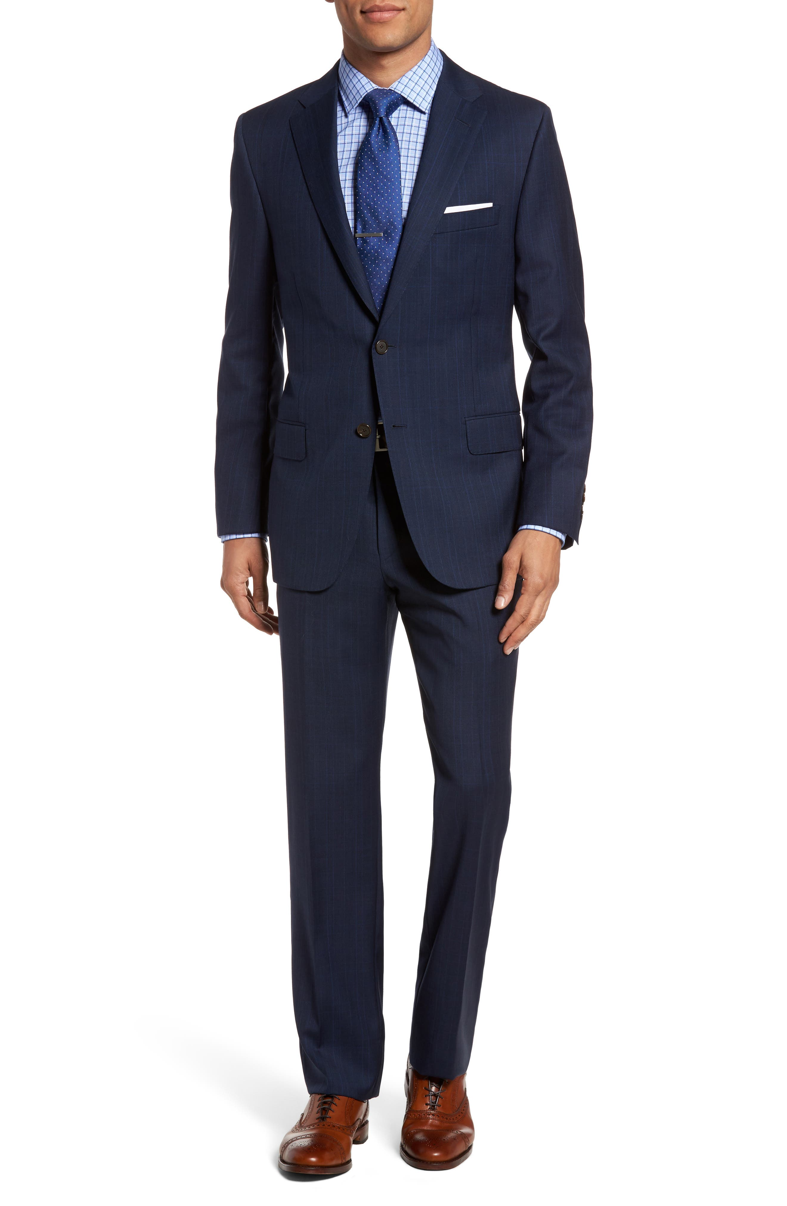 Hickey Freeman B-Series Classic Fit Plaid Wool Suit