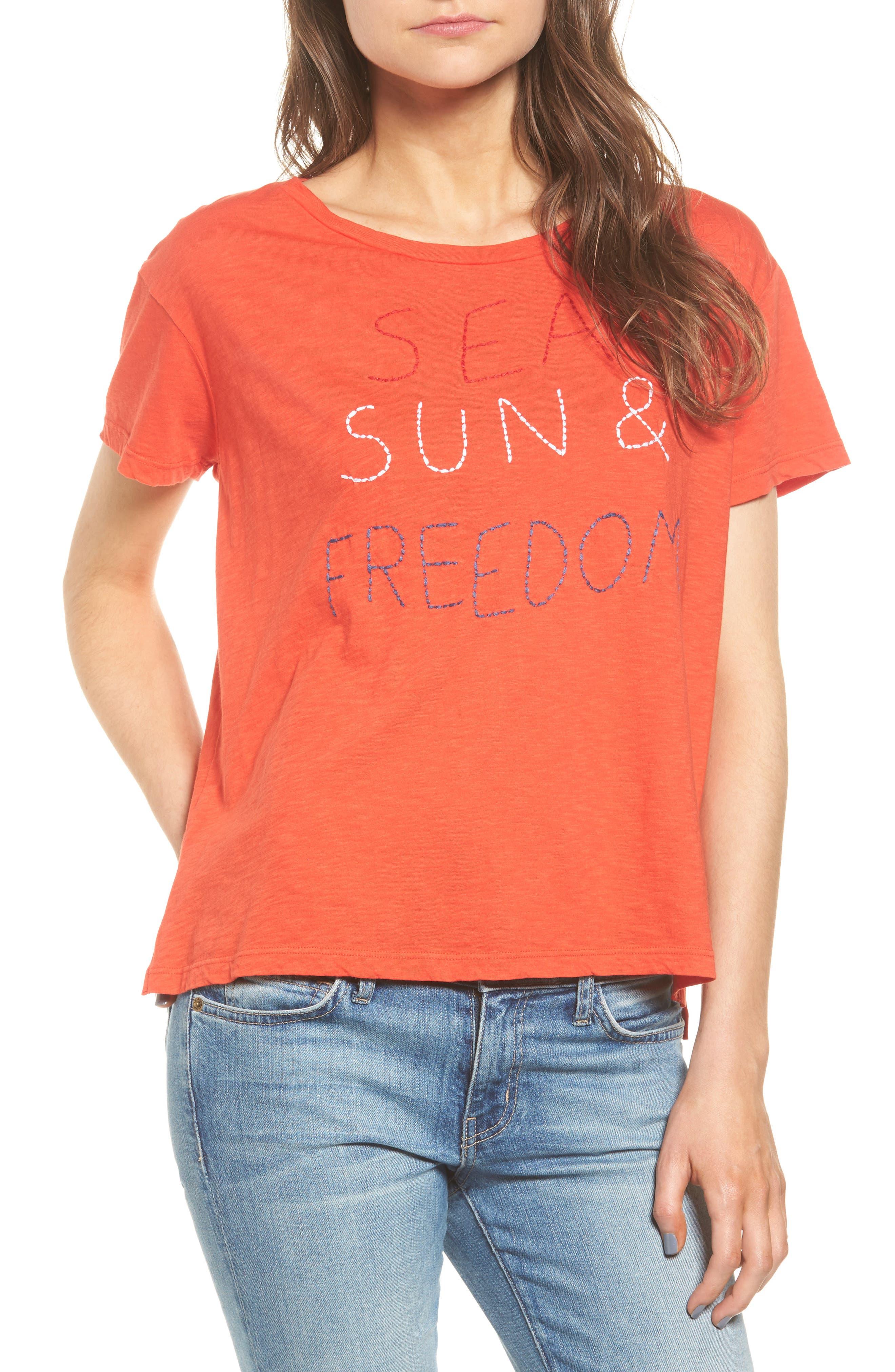 Sundry Sea Sun Freedom Tee (Nordstrom Exclusive)