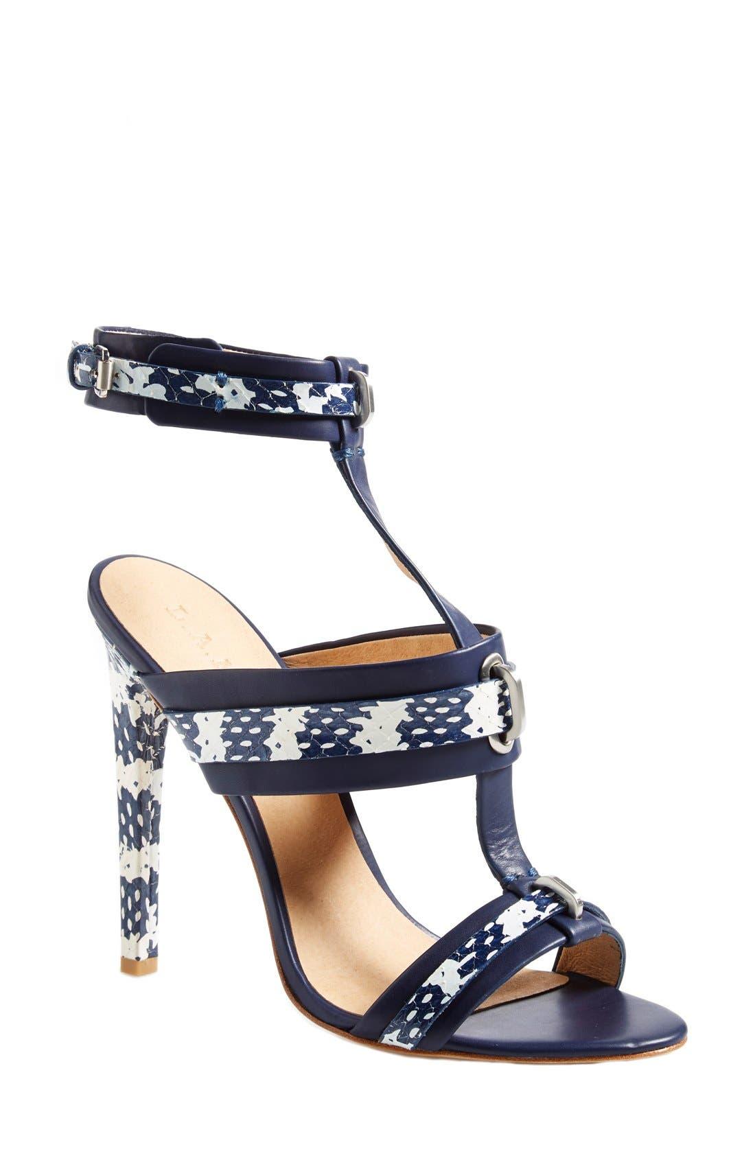 Alternate Image 1 Selected - L.A.M.B. 'Bradley' T-Strap Sandal (Women)