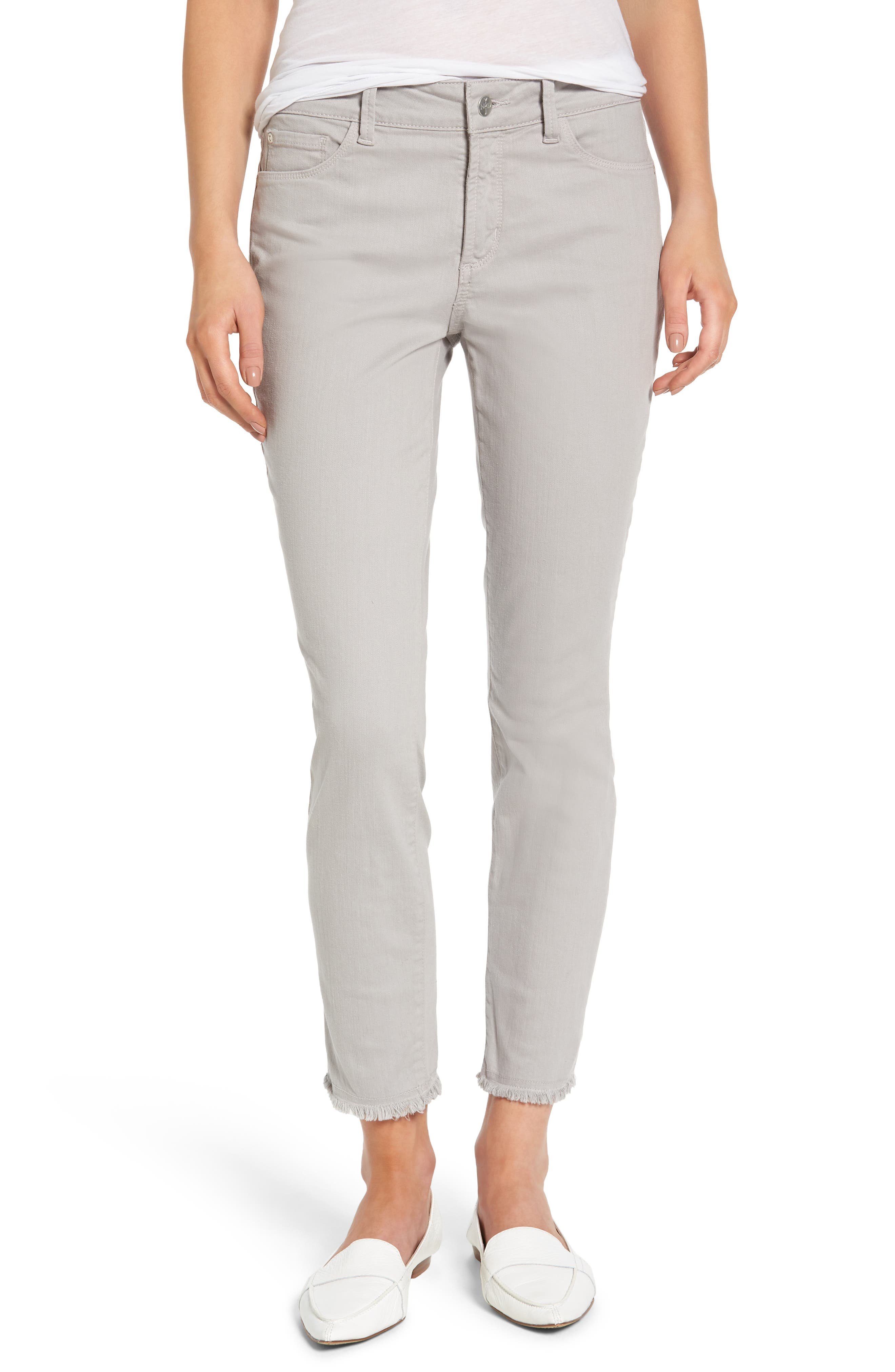 NYDJ Alina Frayed Stretch Twill Ankle Pants (Regular & Petite)