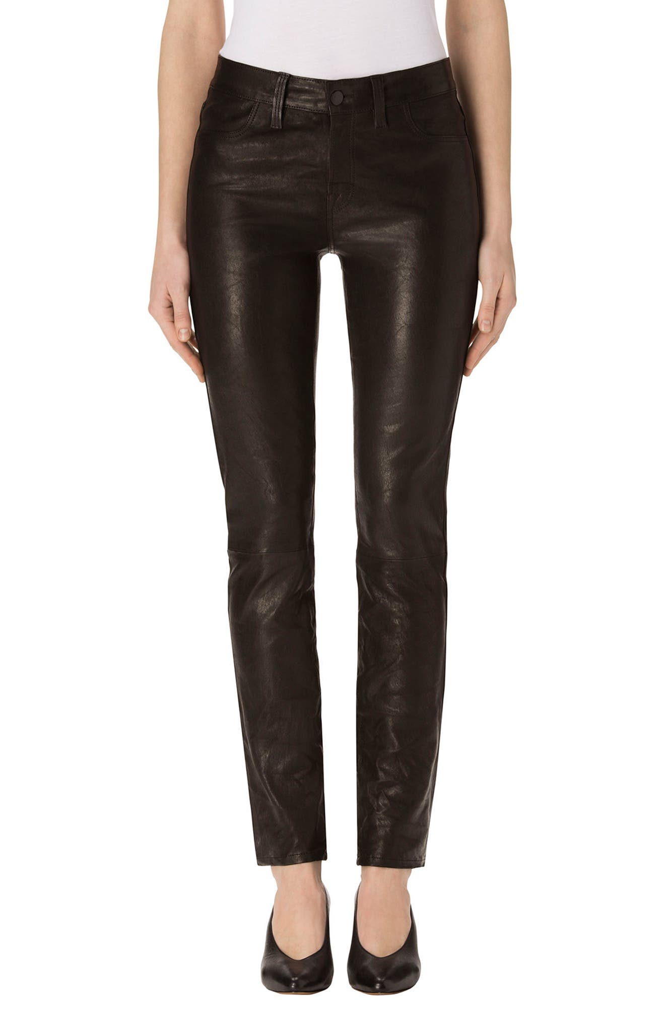 J Brand Maude Leather Cigarette Pants