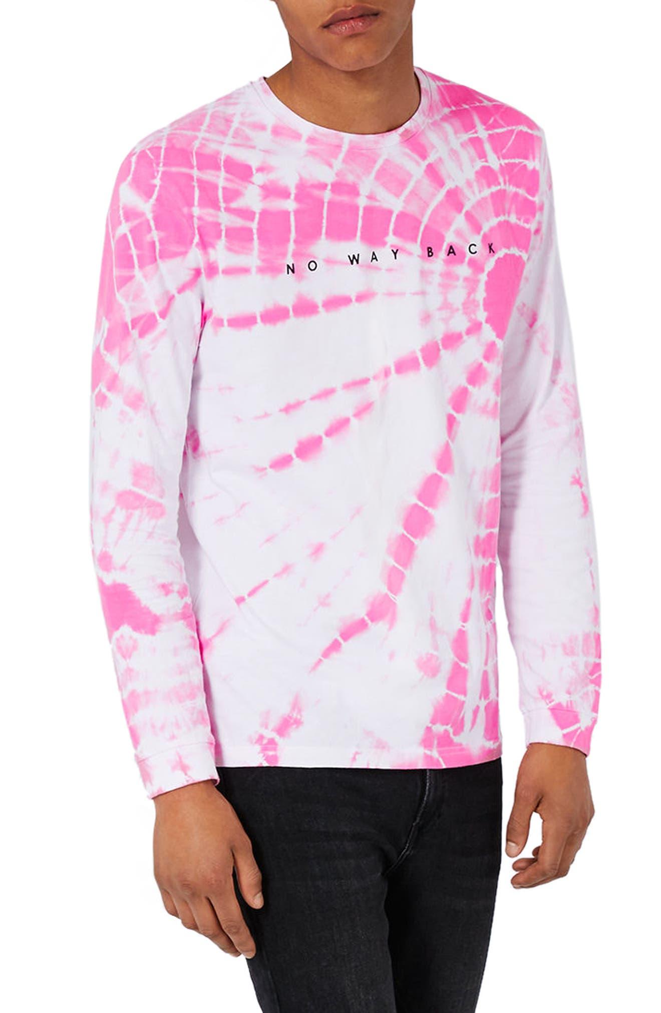 Topman No Way Back Graphic Tie Dye T-Shirt