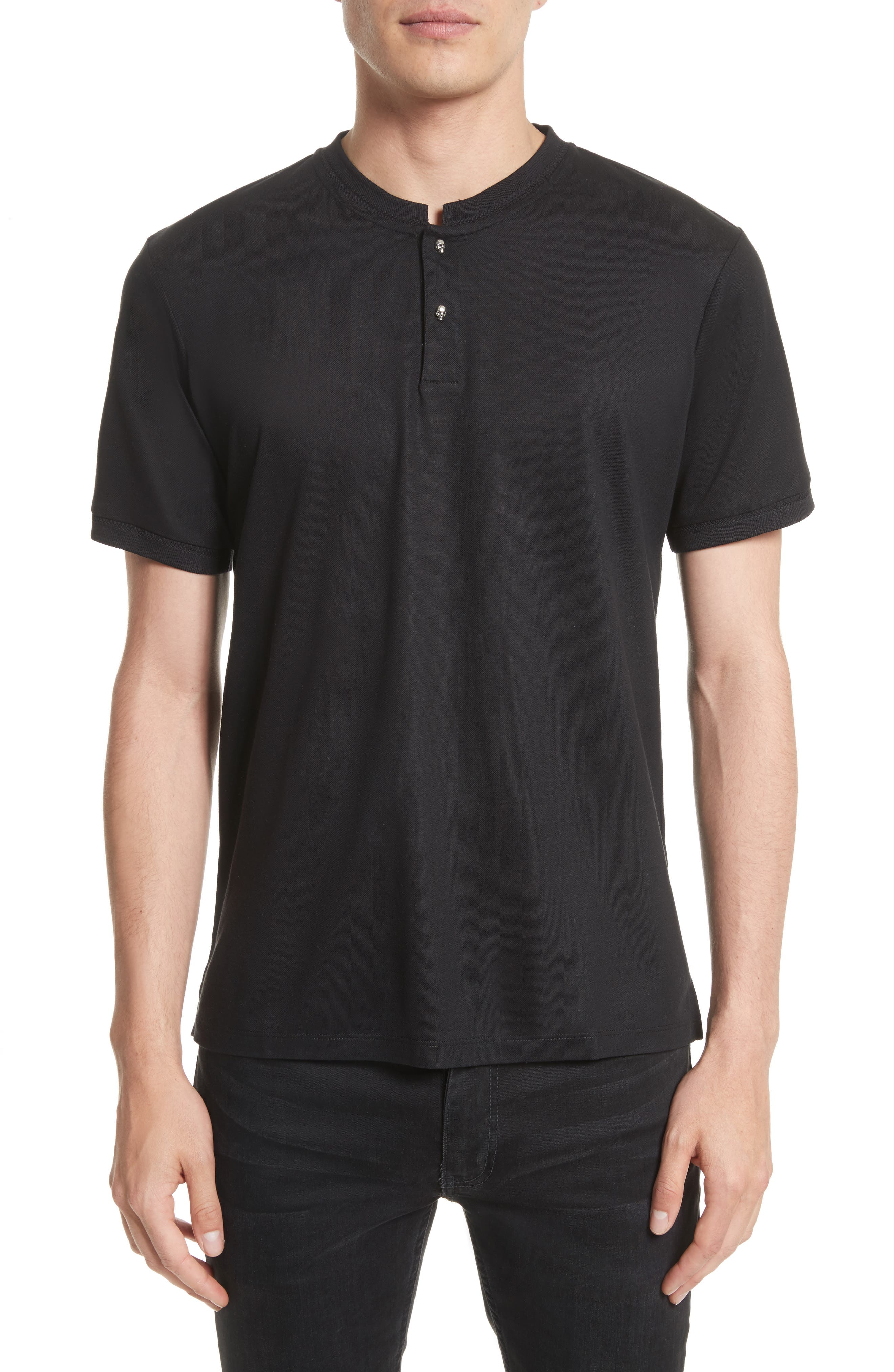 The Kooples Skull Button Henley