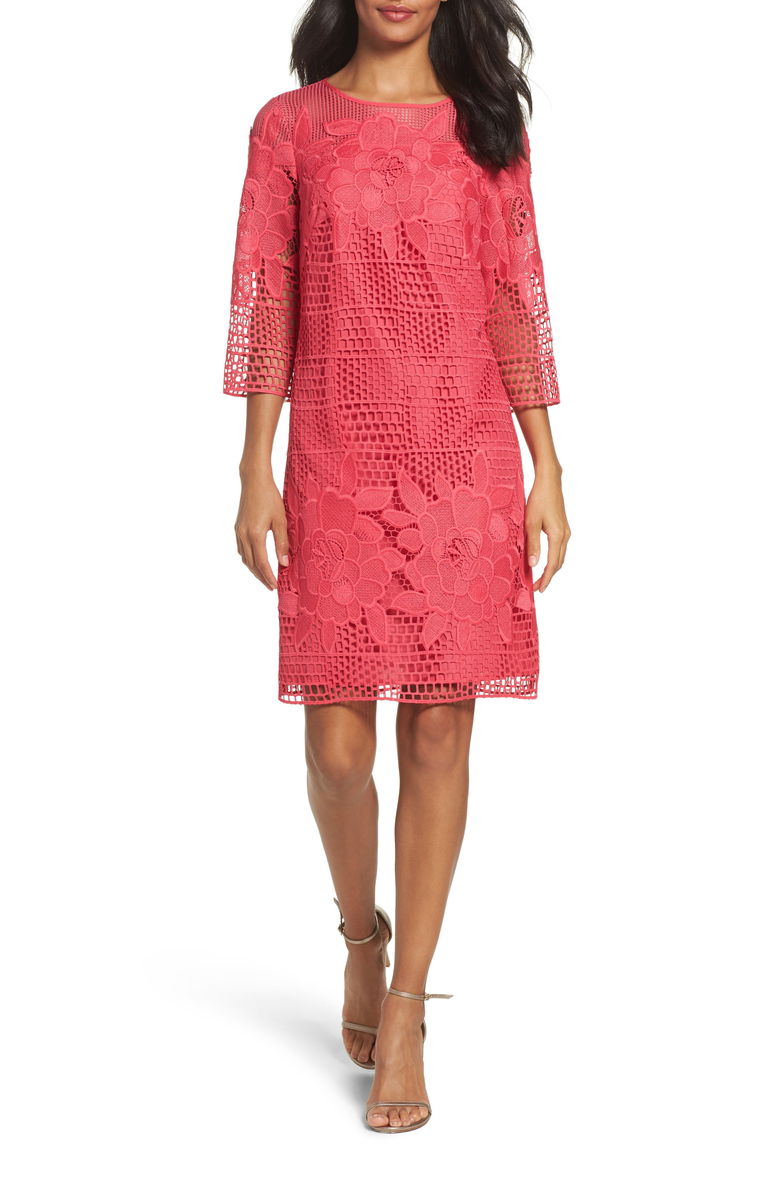 Adrianna Papell Lace A-Line Dress