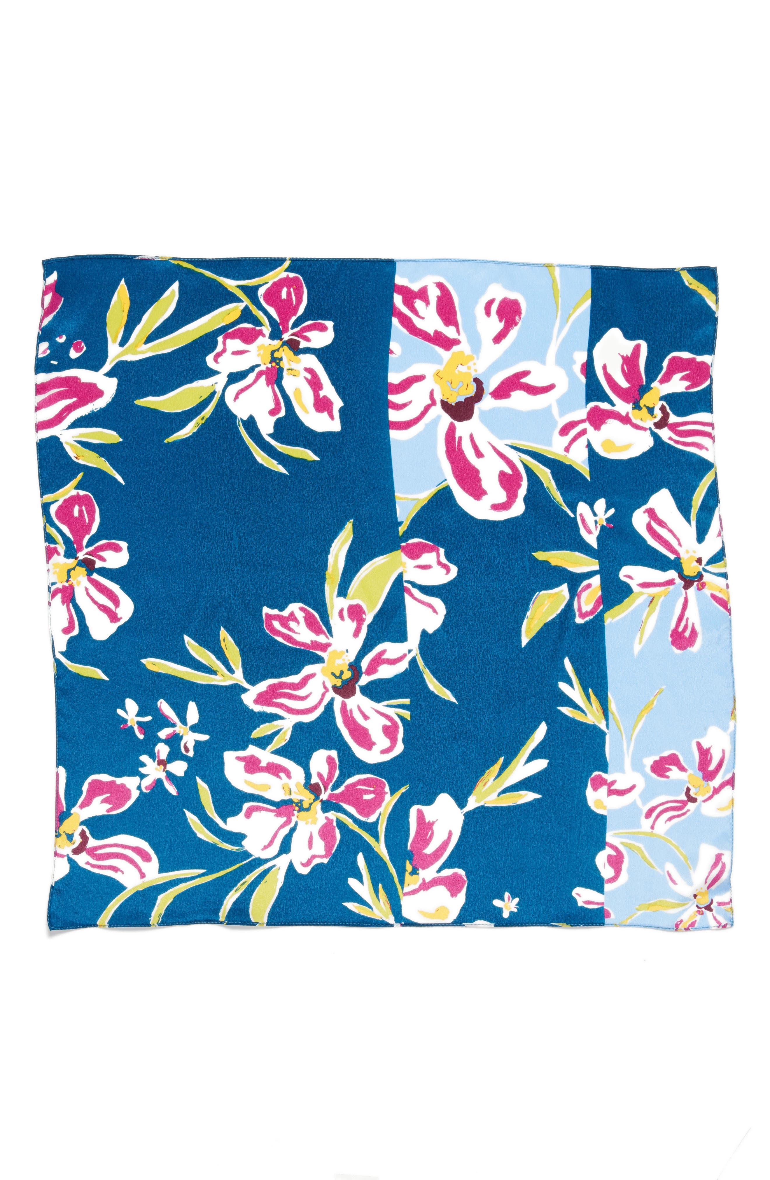 Alternate Image 2  - Halogen® Floral Tropicana Silk Scarf
