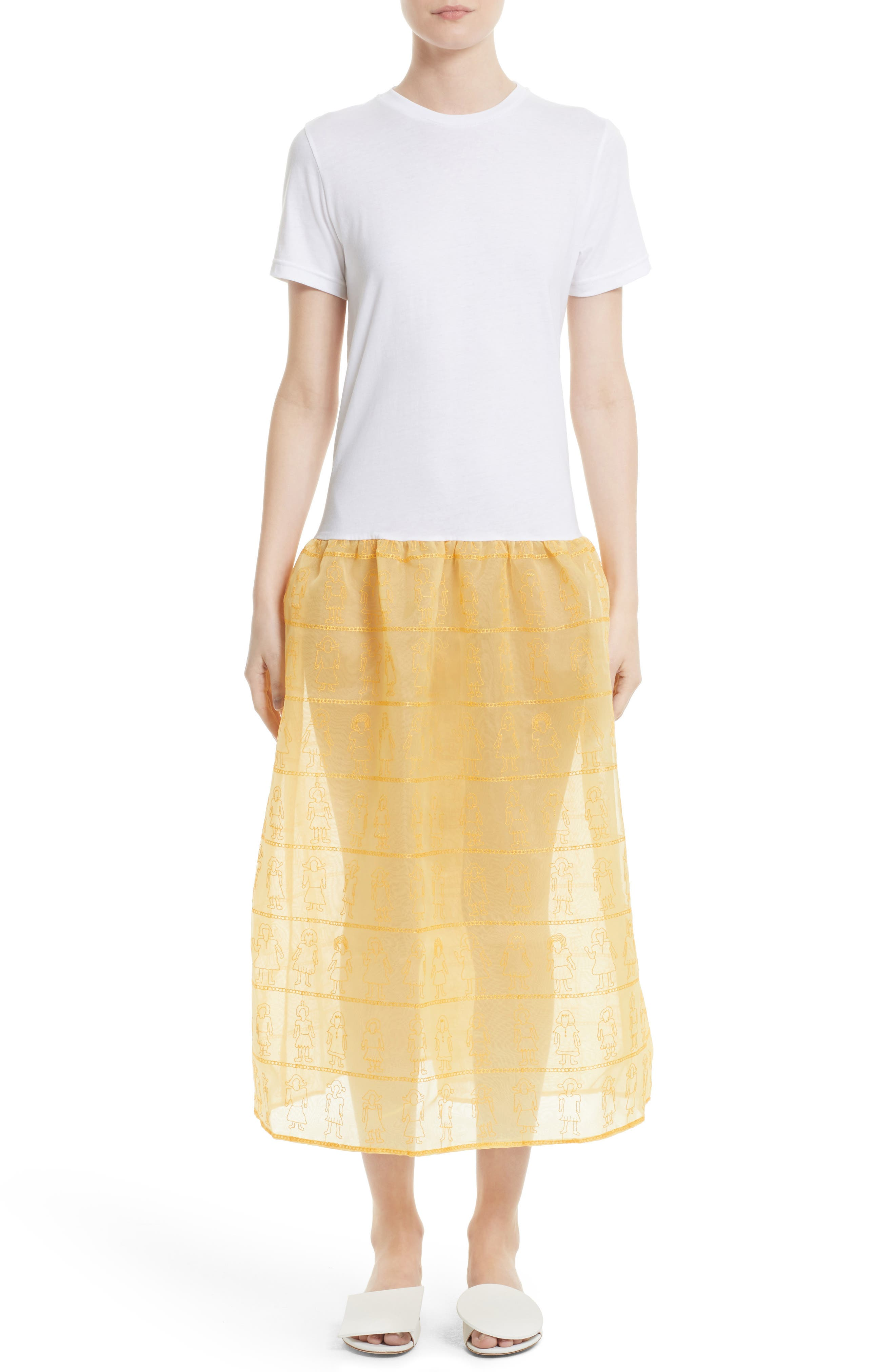 Shrimps Marigold Embroidered Dress (Nordstrom Exclusive)