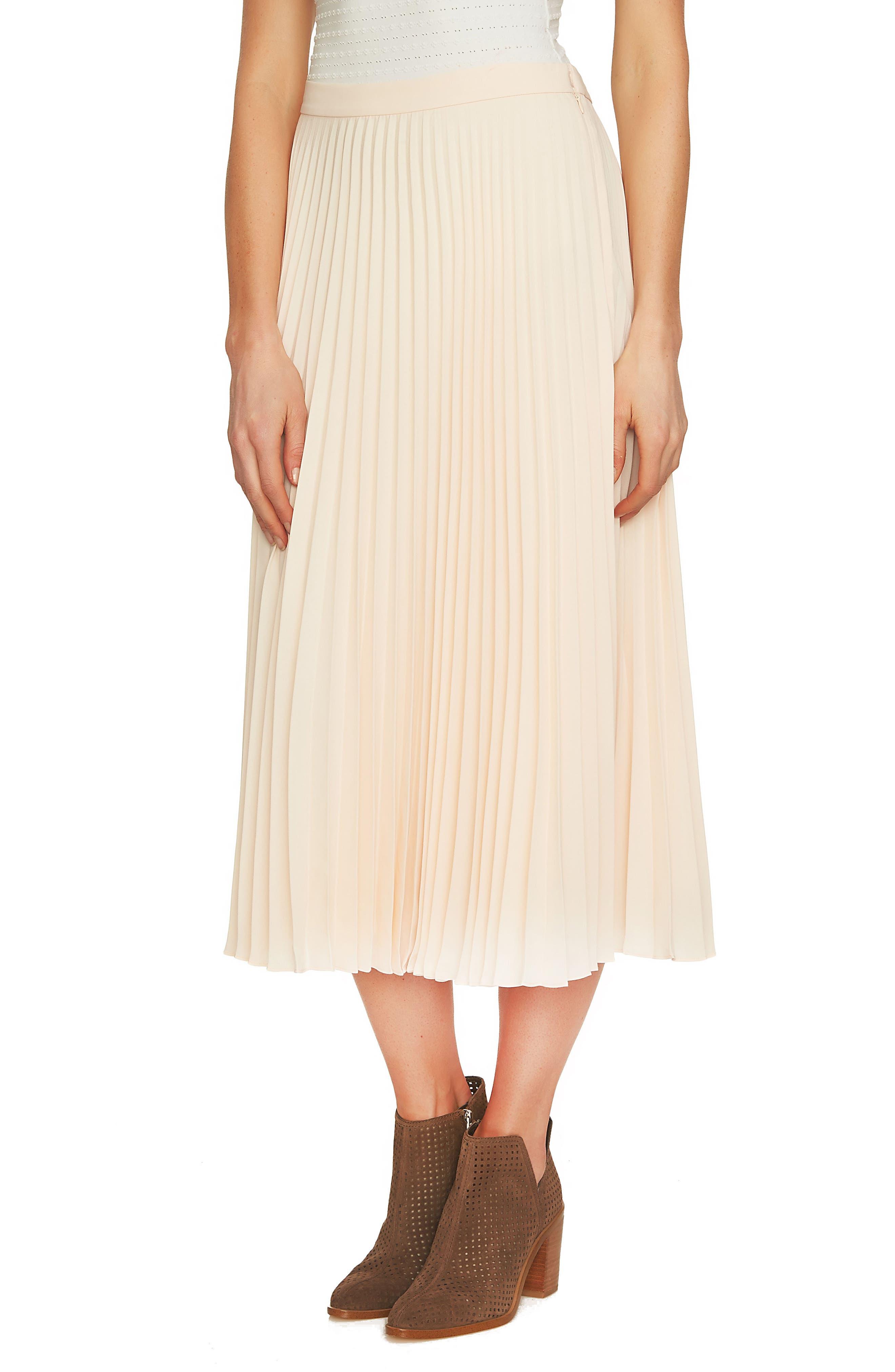 1.STATE Pleated Midi Skirt