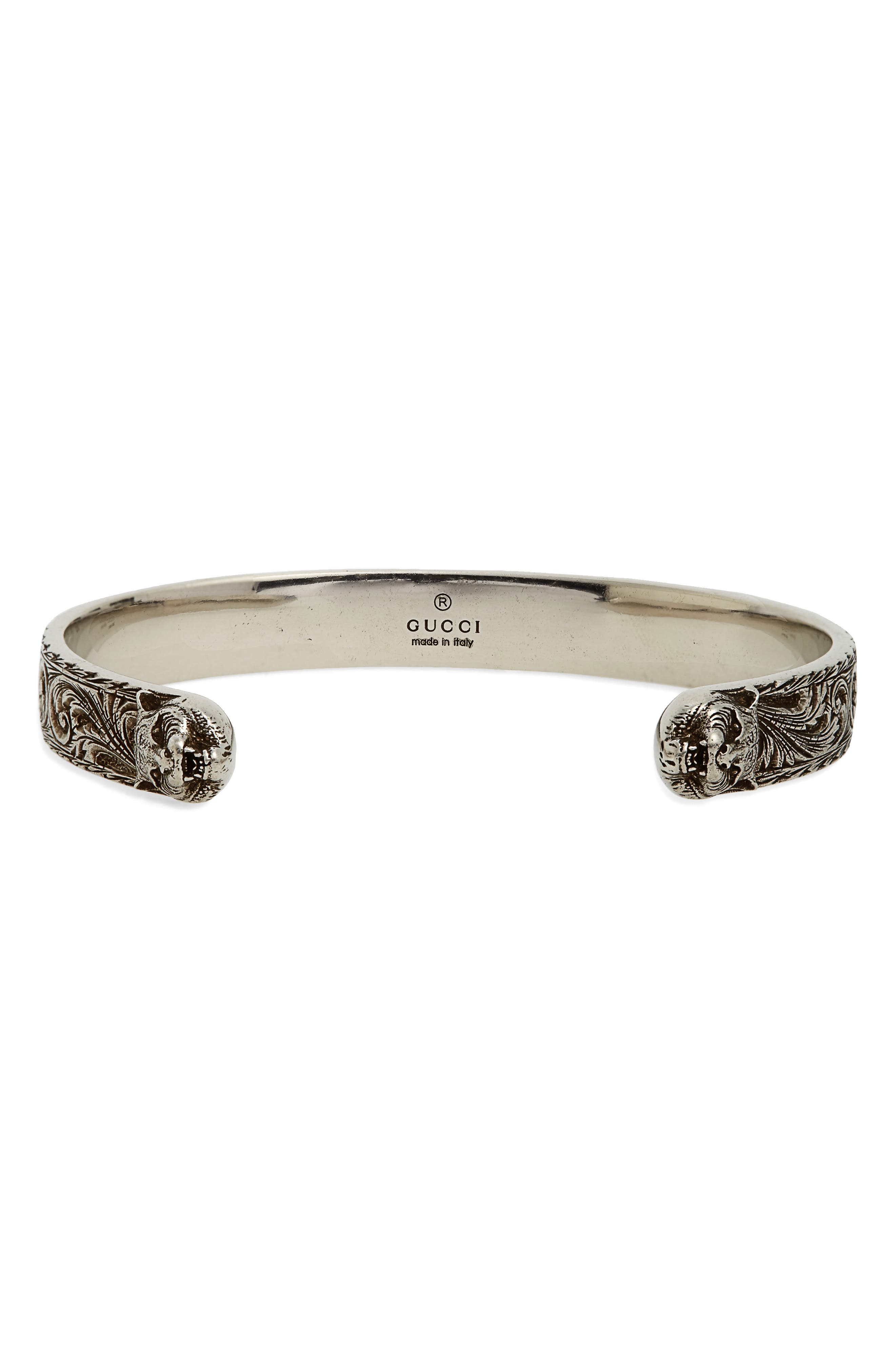 Gucci Gatto Sterling Silver Cuff Bracelet
