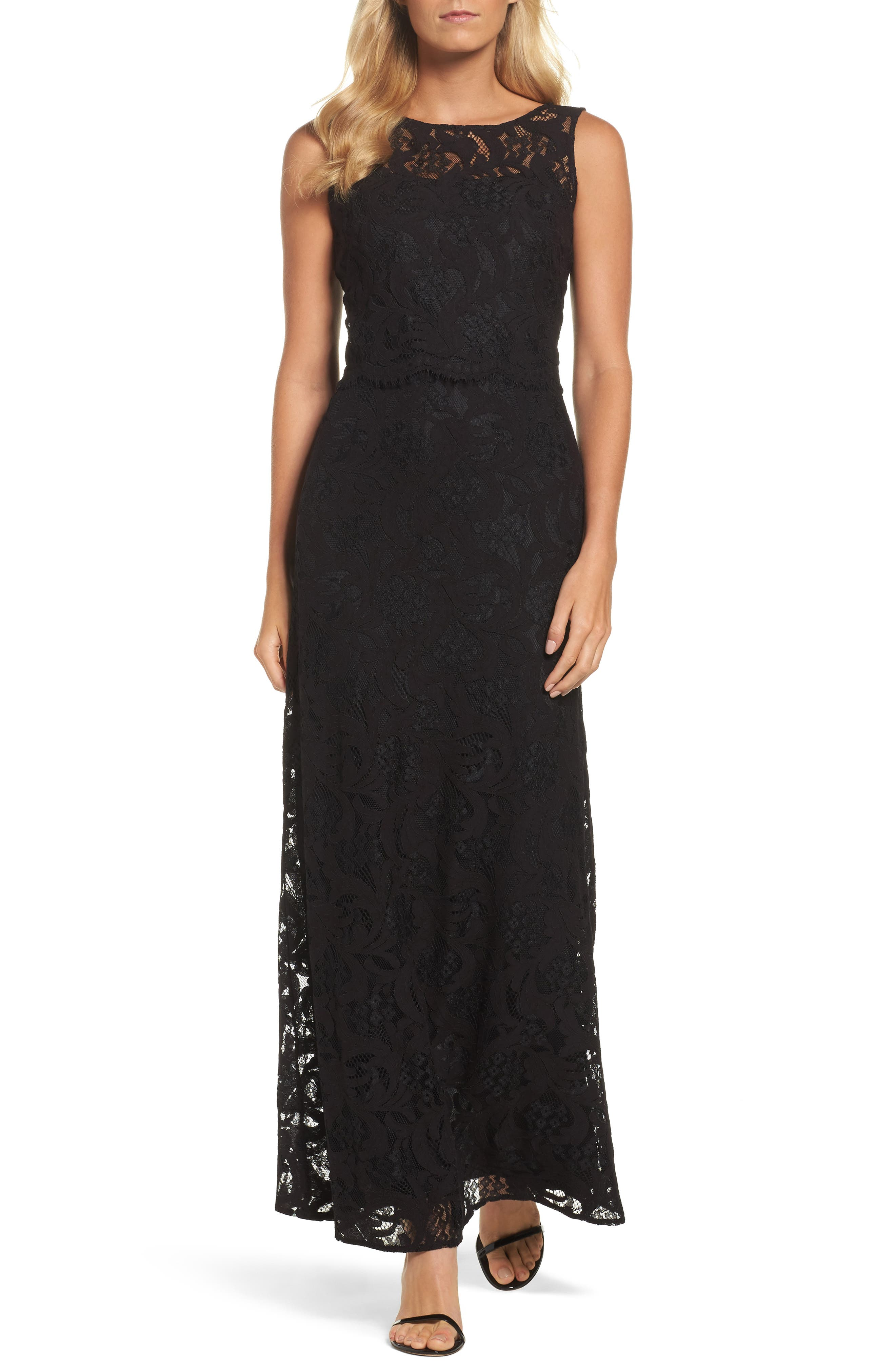 Ellen Tracy Popover Column Gown
