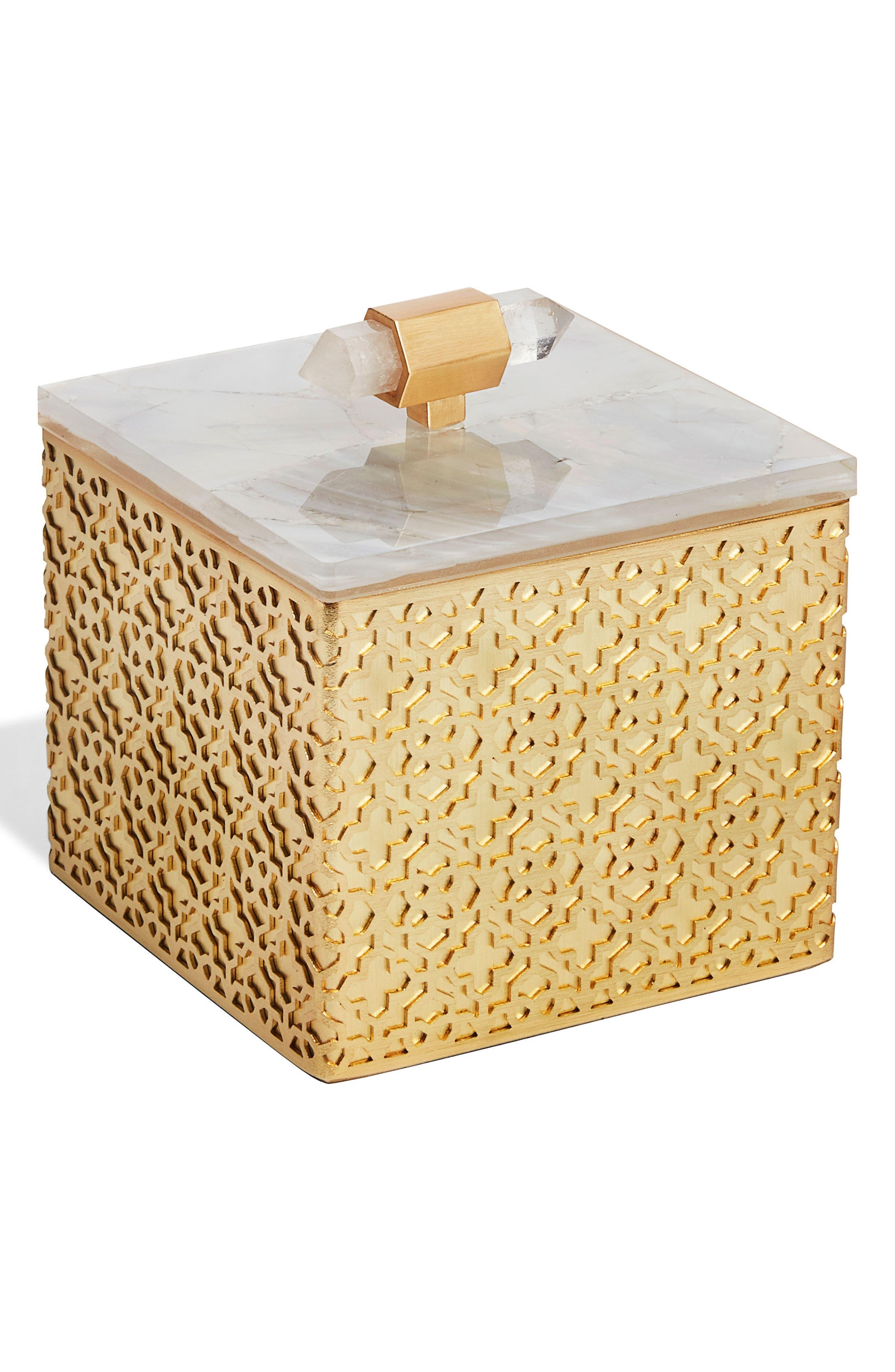 Kendra Scott Square Filigree Stone Box