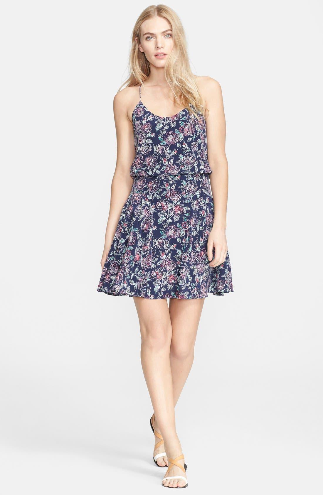 Main Image - Joie 'Nanon' Print Silk Blouson Dress