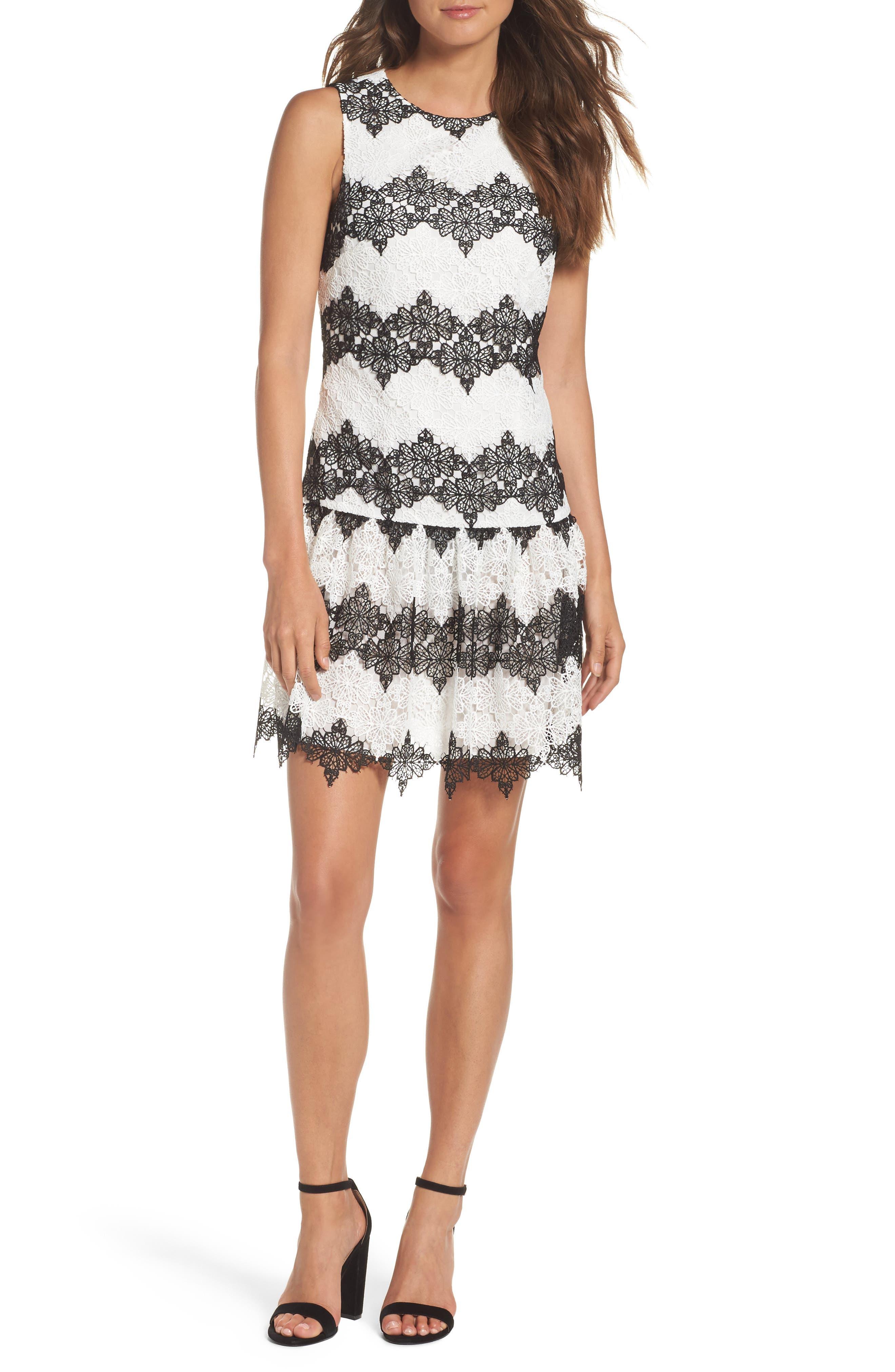 Betsey Johnson Lace Drop Waist Dress
