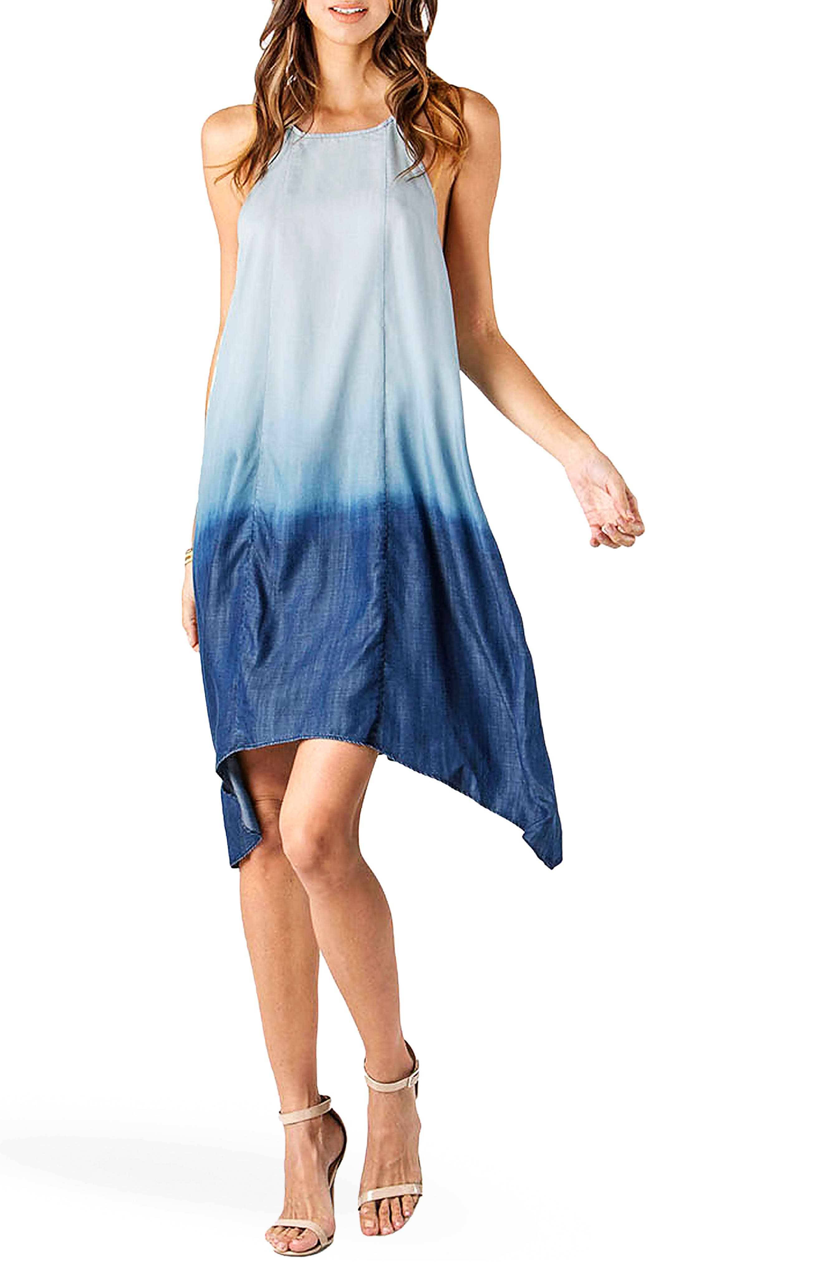 Standards & Practices Ariana Chambray Racerback Dress