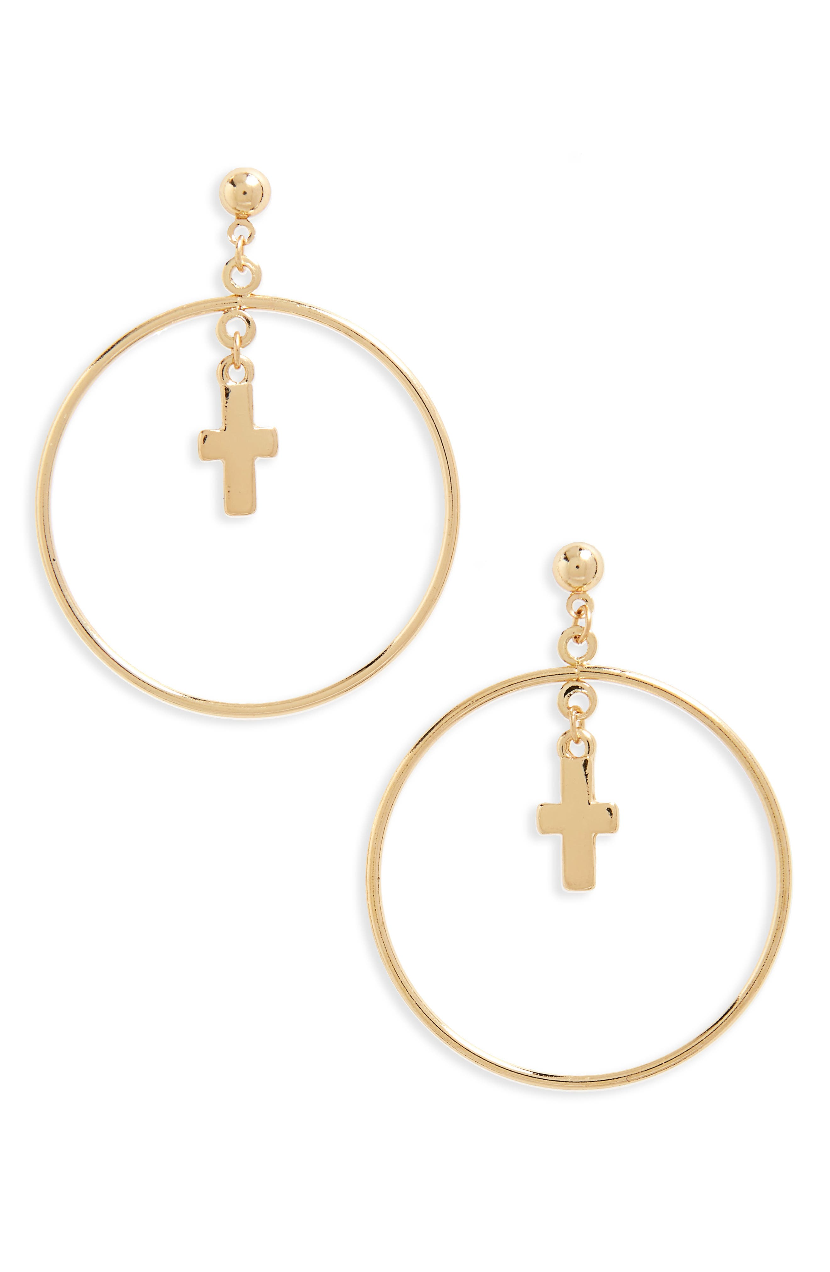 BP. Circle Cross Earrings