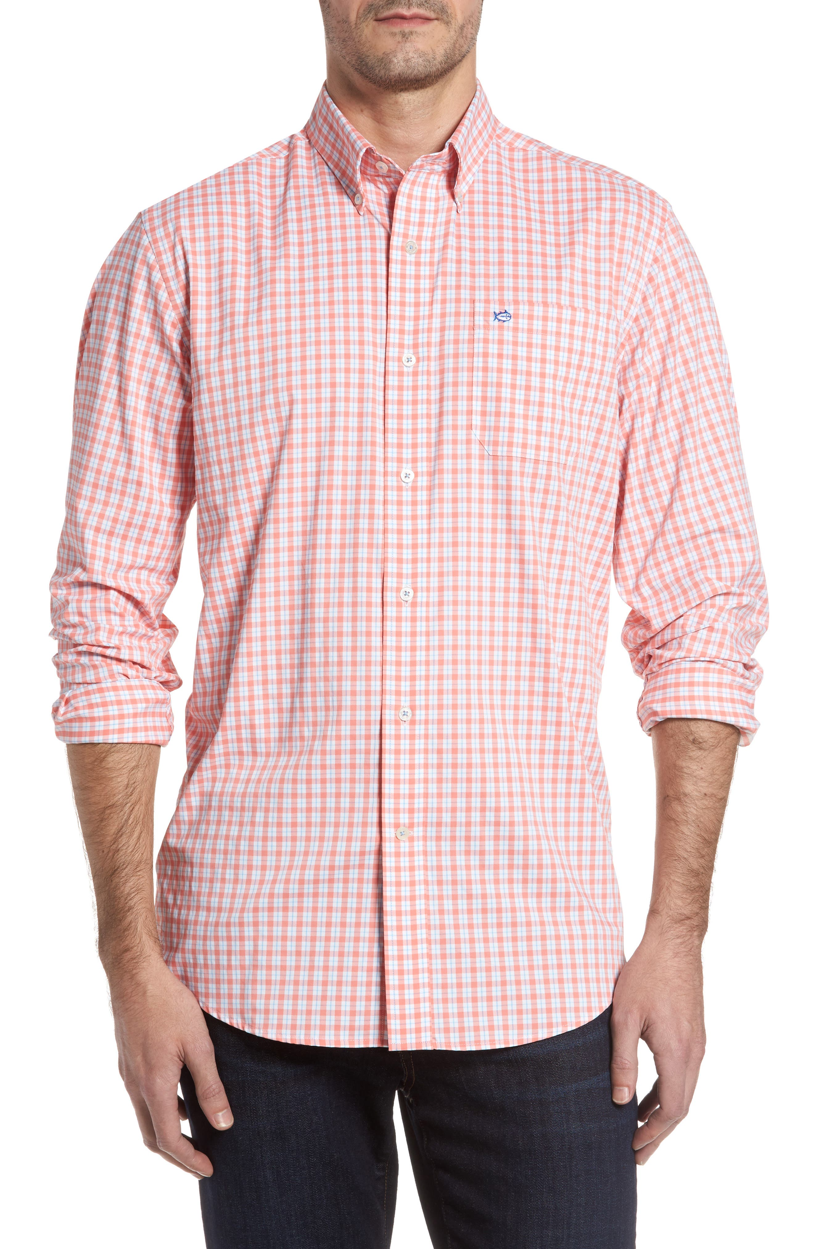 Southern Tide Precheck Performance Intercoastal Classic Fit Sport Shirt