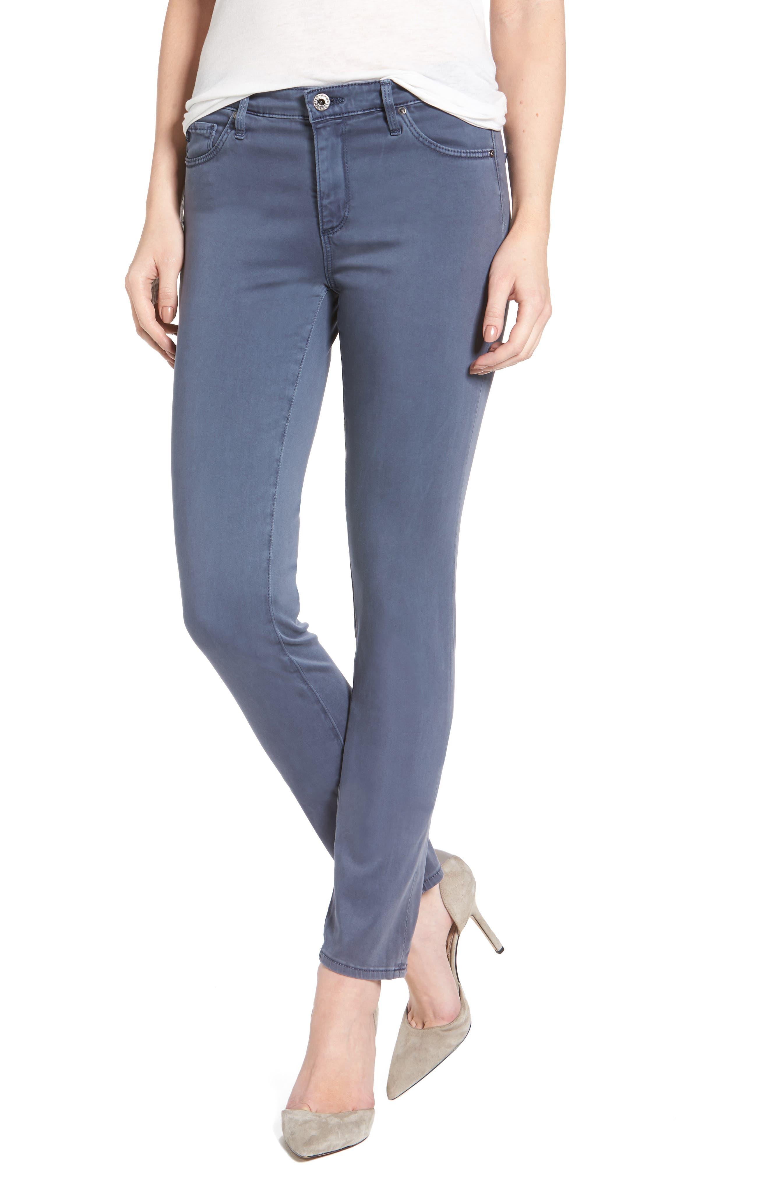 FRAME Le Color Rip Skinny Jeans (Film Noir) | Nordstrom