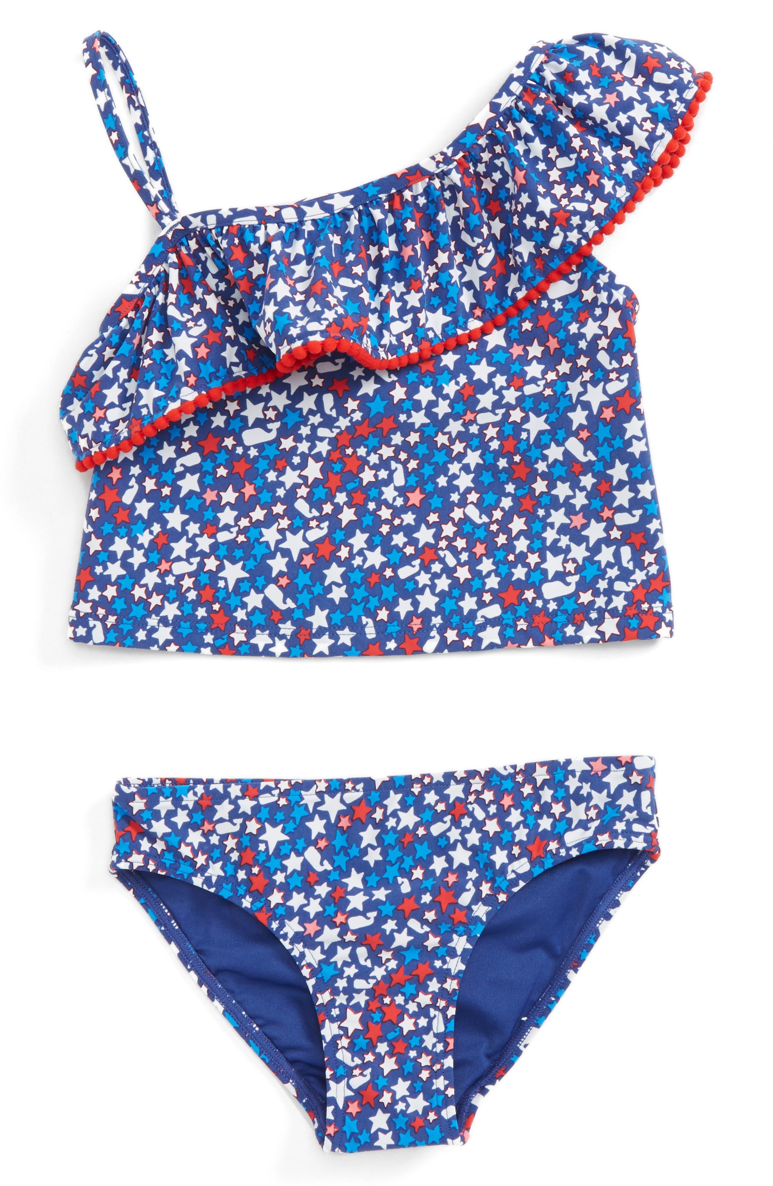 Vineyard Vines Stars & Whales Two-Piece Tankini Swimsuit (Toddler Girls)