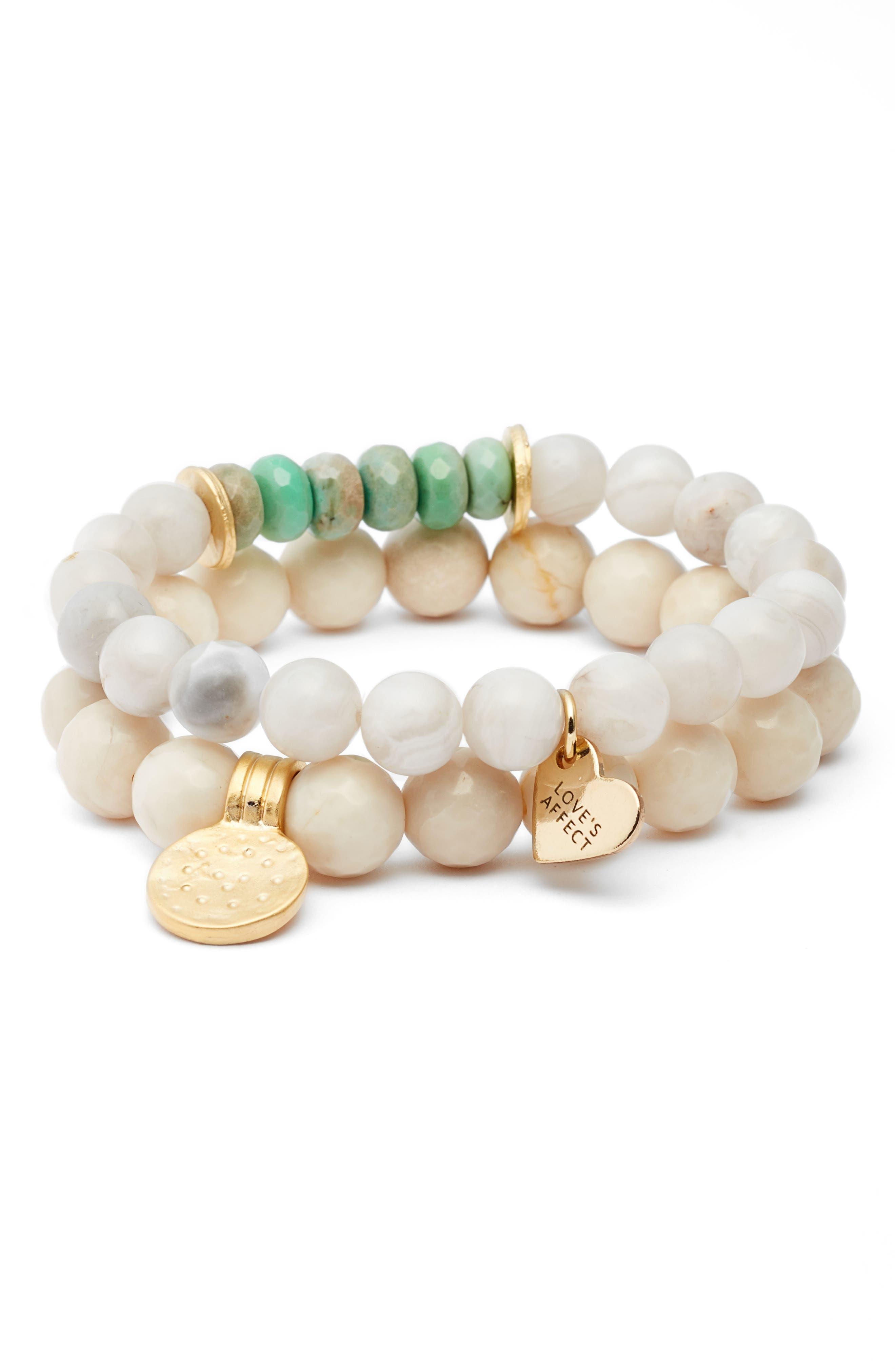Love's Affect Set of 2 Stretch Bracelets