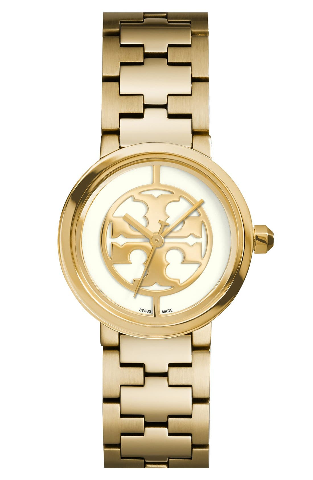 Alternate Image 1 Selected - Tory Burch 'Reva' Logo Dial Bracelet Watch, 28mm