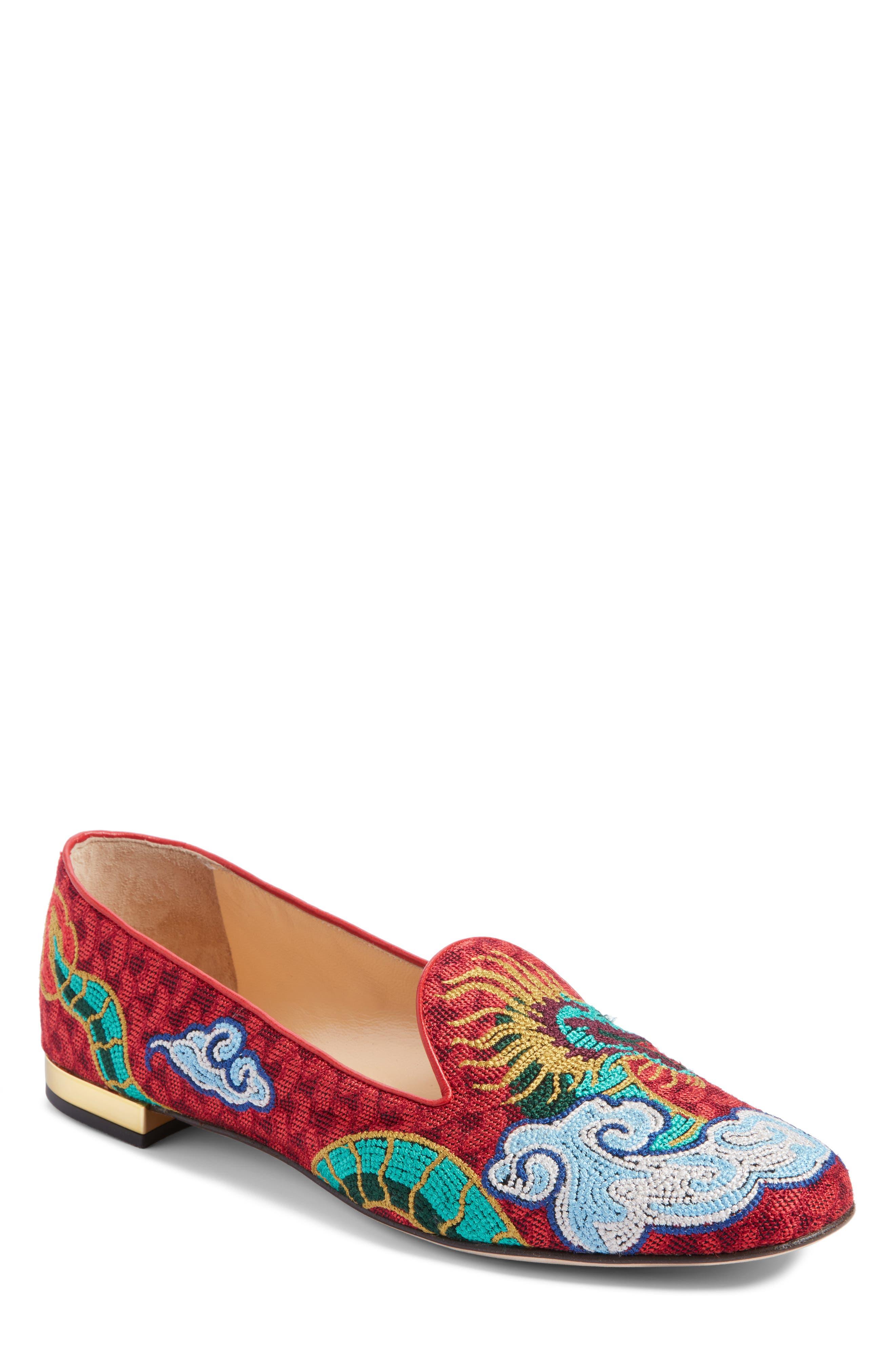 Charlotte Olympia Dragon Slipper Loafer (Women)