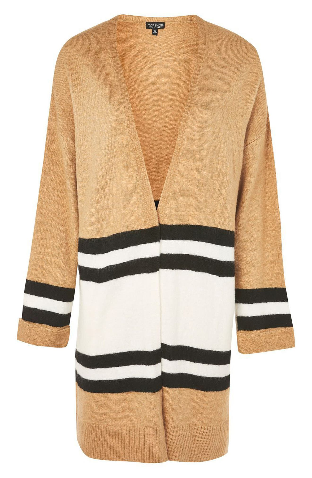 Alternate Image 4  - Topshop Stripe Colorblock Cardigan
