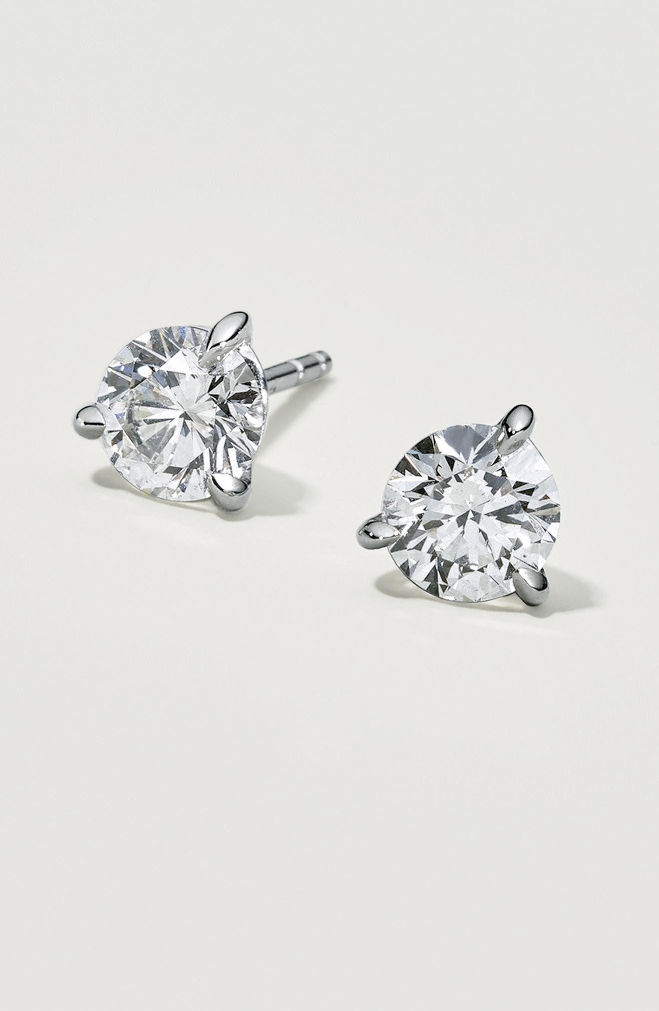 Alternate Image 4  - Kwiat 1.50ct tw Diamond & Platinum Stud Earrings