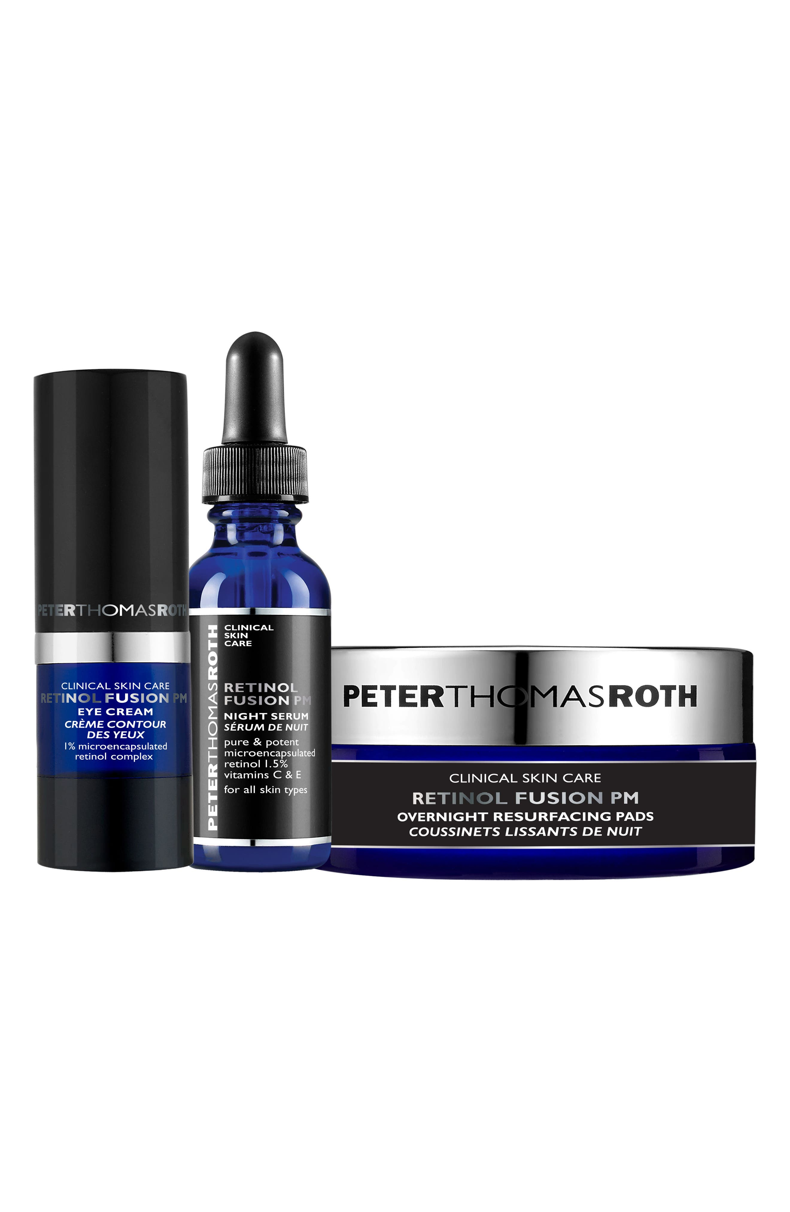Peter Thomas Roth Retinol Fusion PM Power Trio ($112 Value)