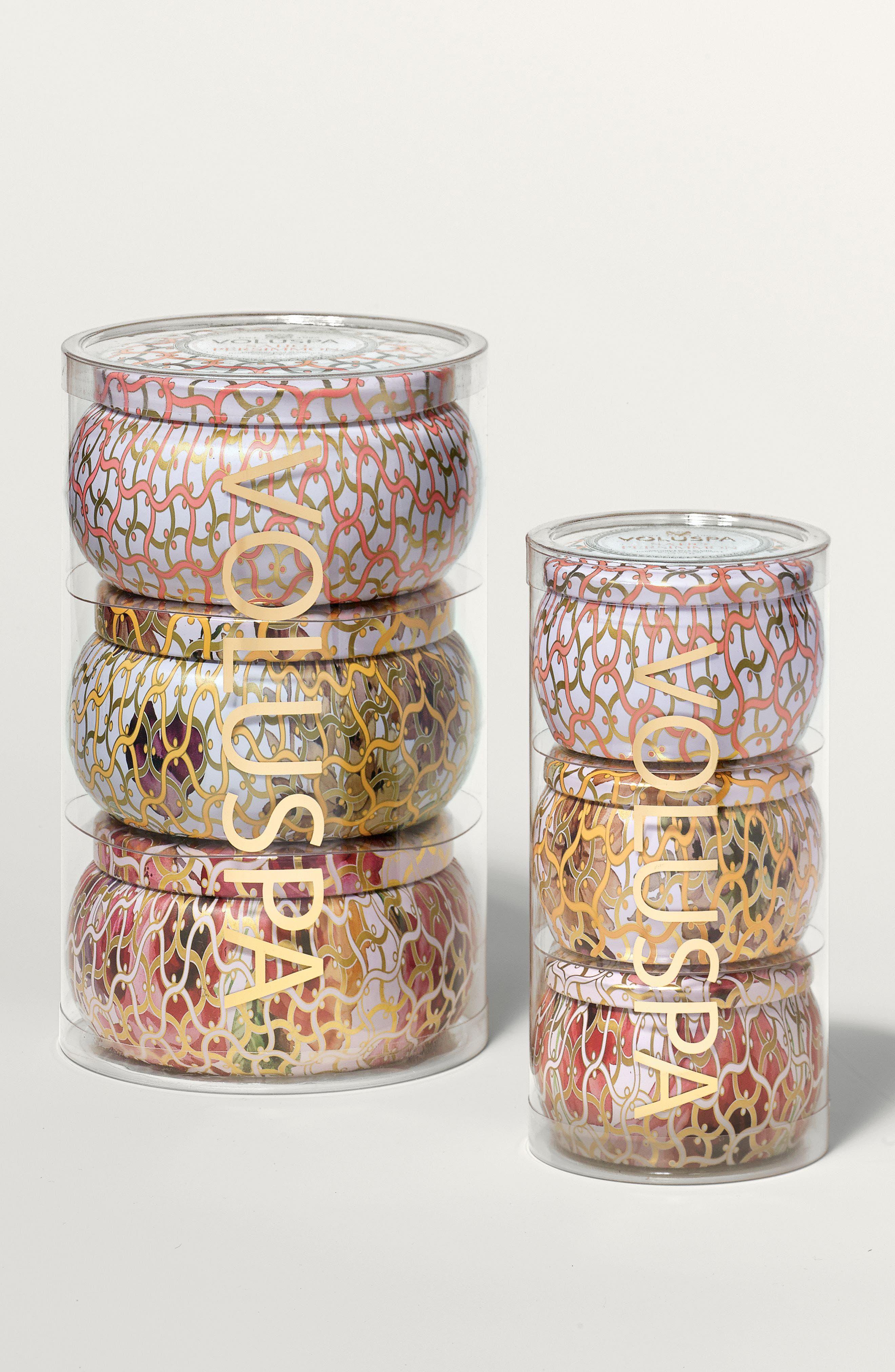 Alternate Image 3  - Voluspa Maison Blanc Two-Wick Tin Candle Set