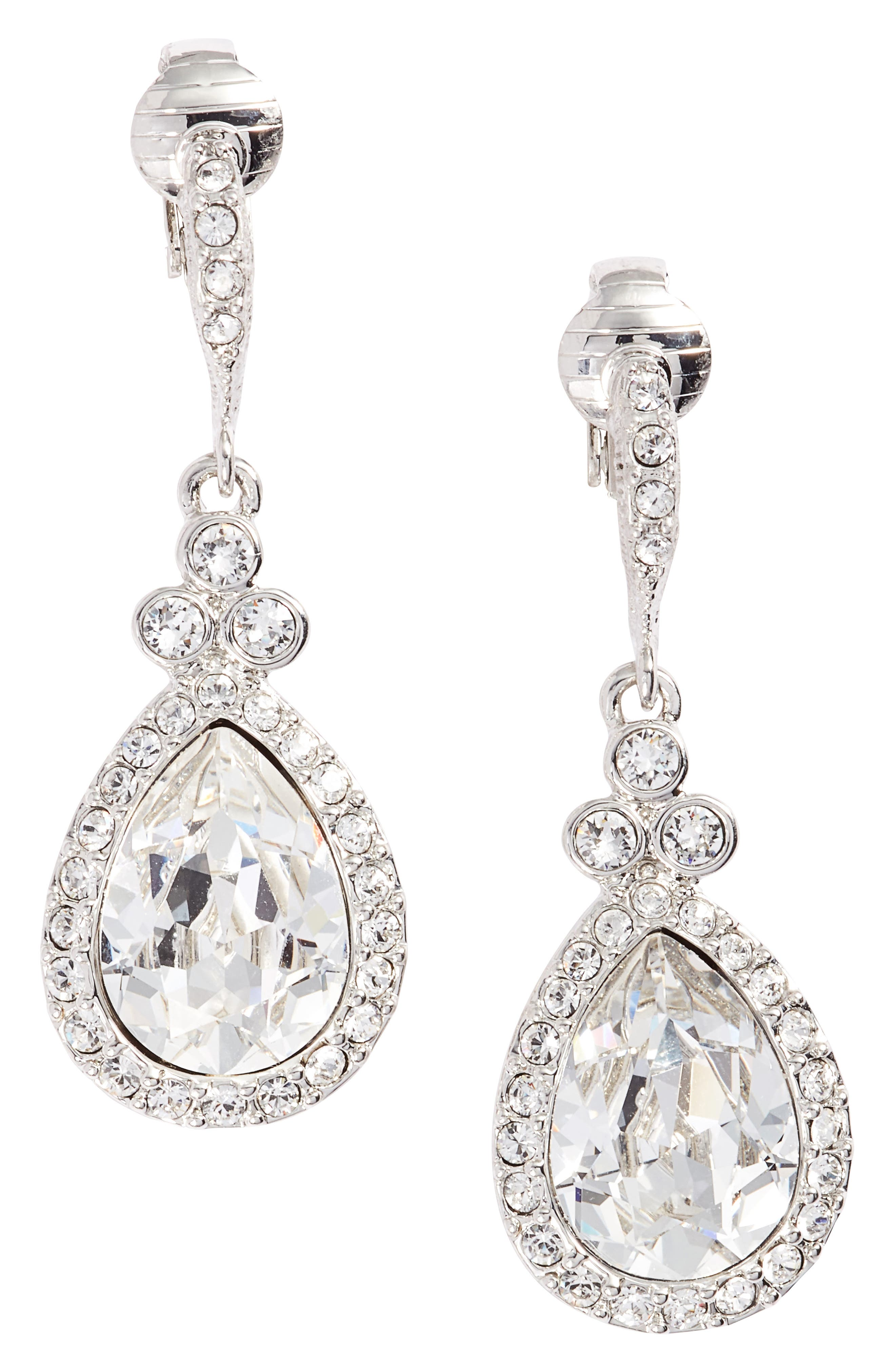 Givenchy Pear Crystal Drop Earrings