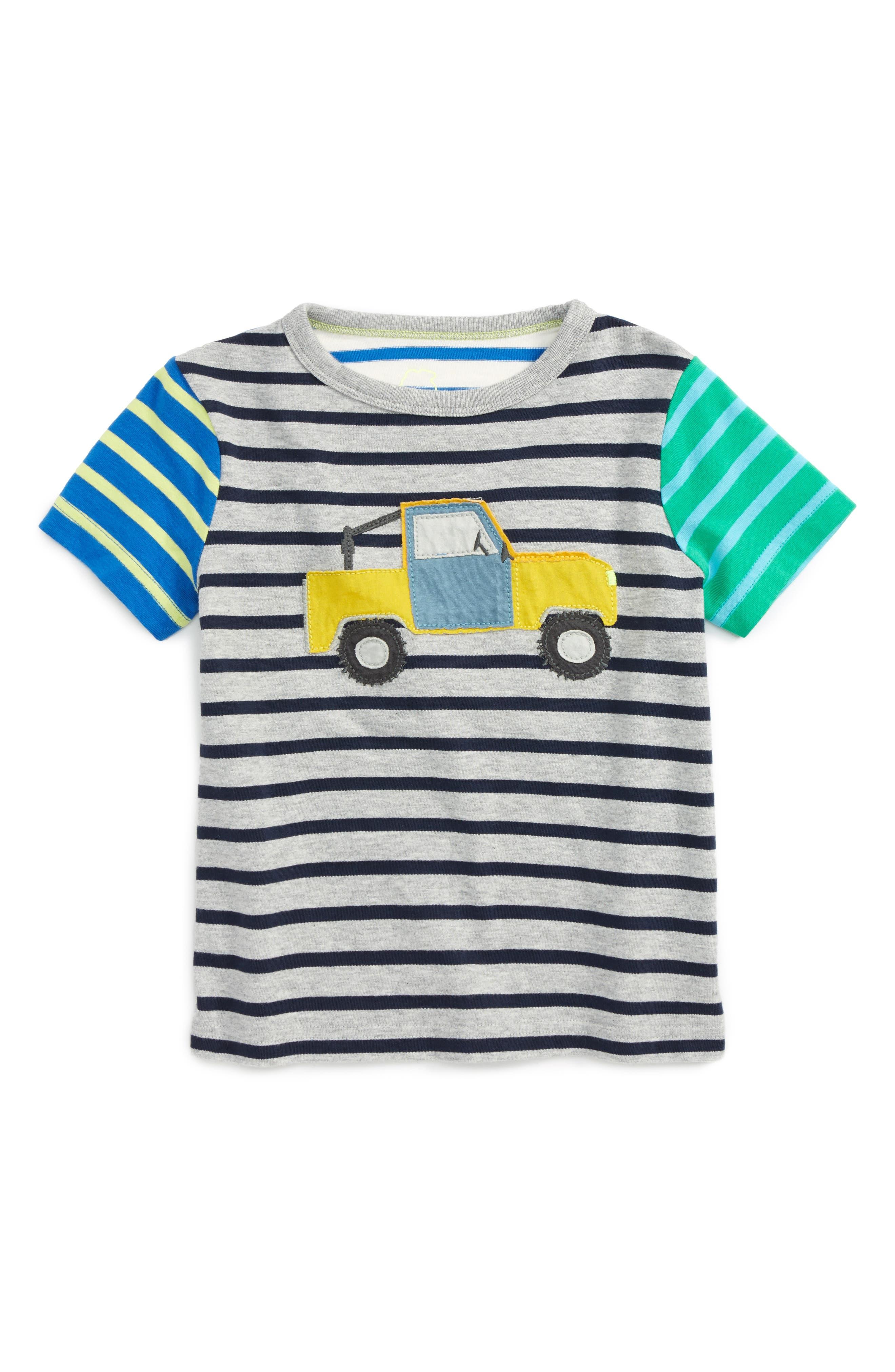 Mini Boden Hotchpotch Vehicle Appliqué T-Shirt (Toddler Boys, Little Boys & Big Boys)