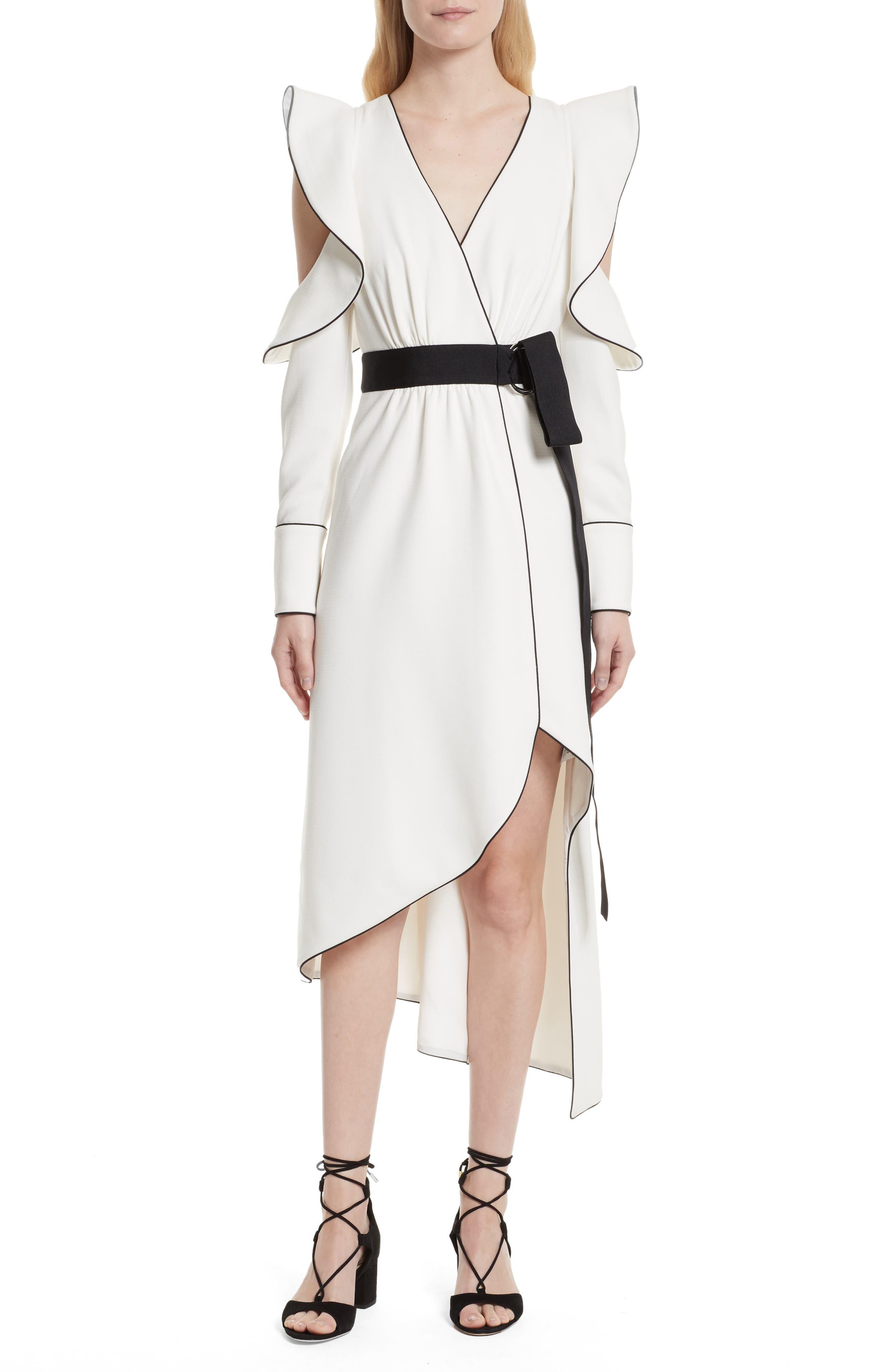 Self-Portrait Cold Shoulder Asymmetrical Dress