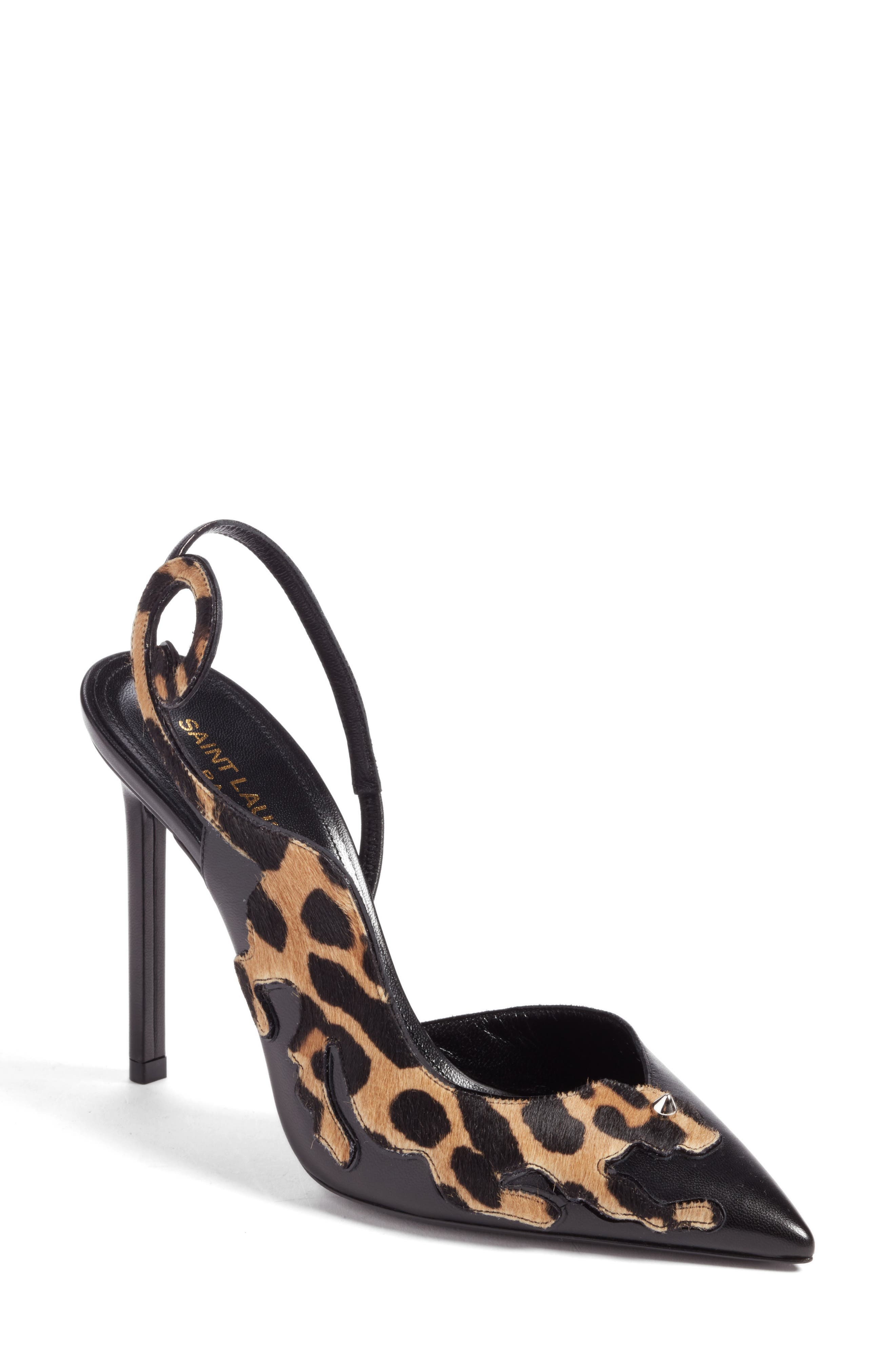 Saint Laurent Anya Half d'Orsay Pump (Women)