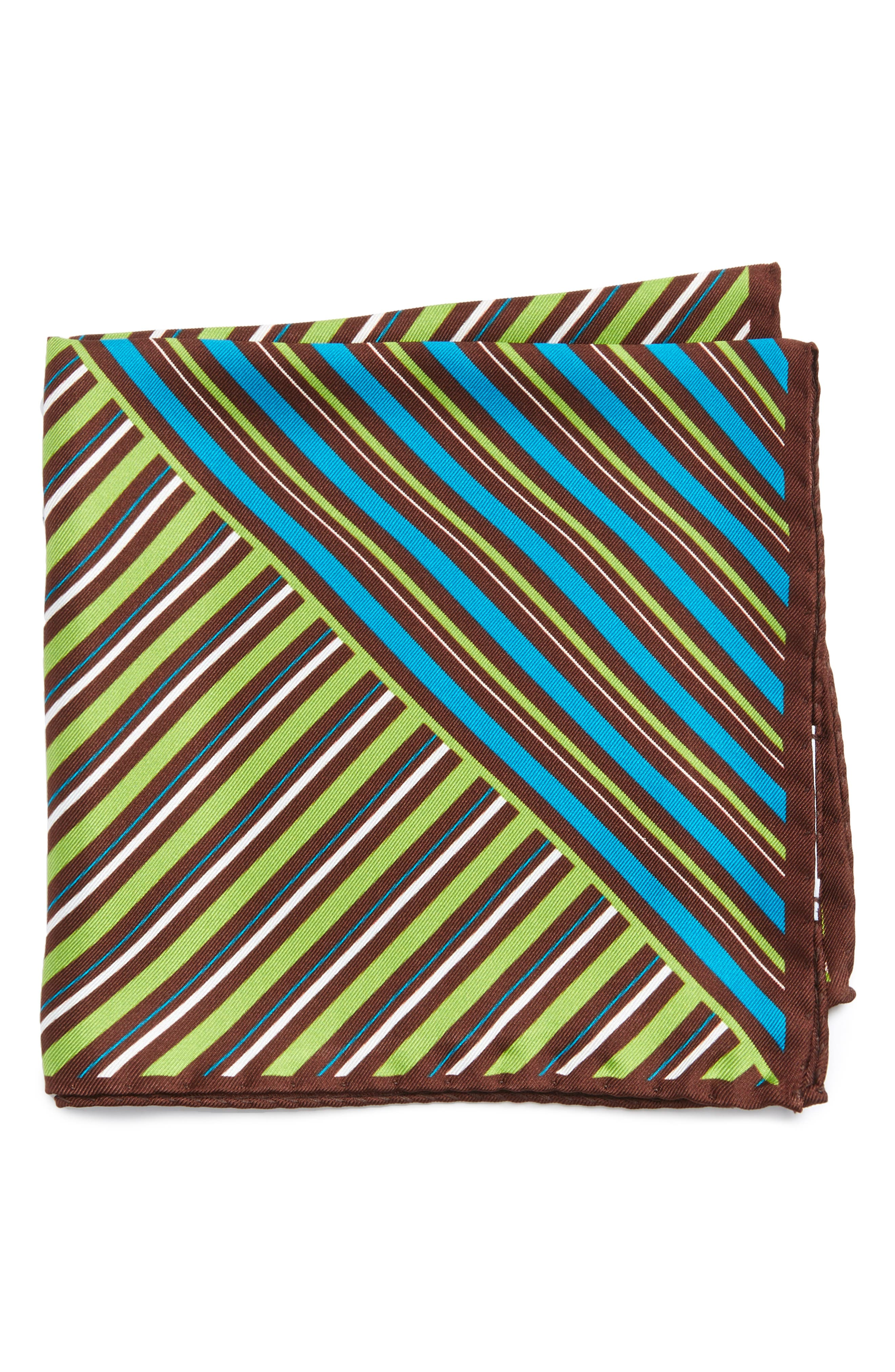 Eton Stripe Silk Pocket Square