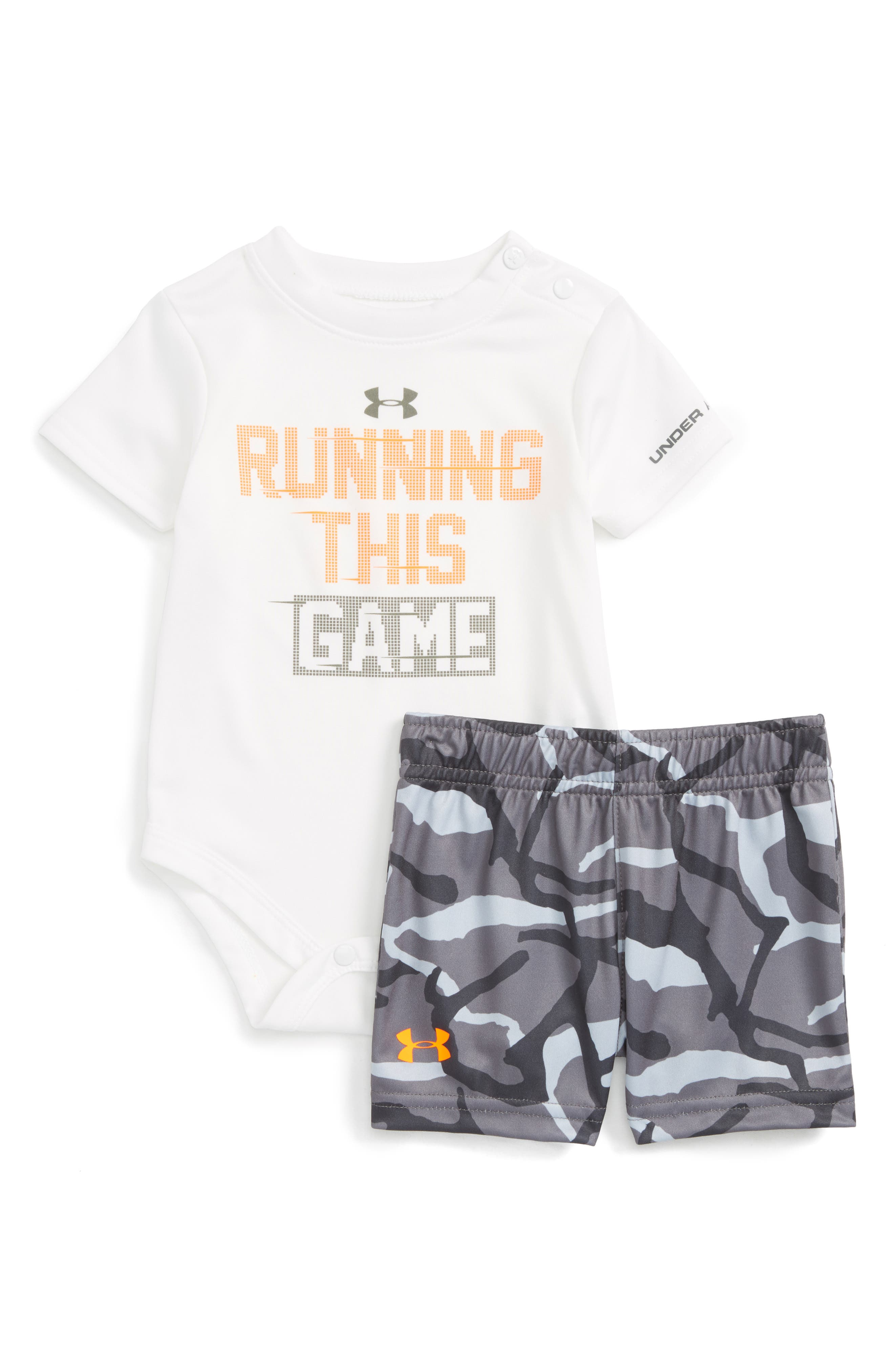 Under Armour Running This Game Bodysuit & Shorts Set (Baby Boys)