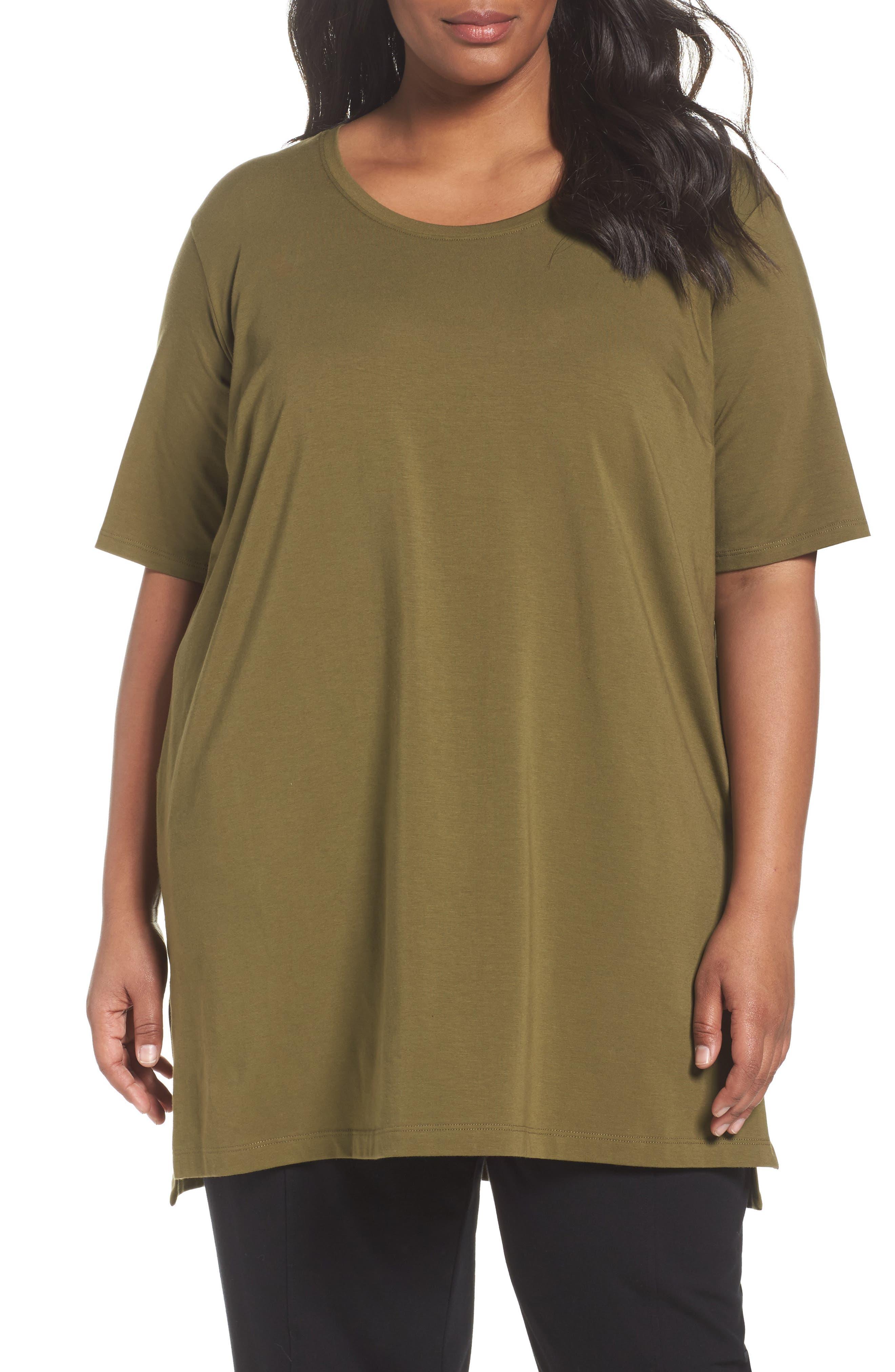 Eileen Fisher Stretch Organic Cotton Tunic (Plus Size)