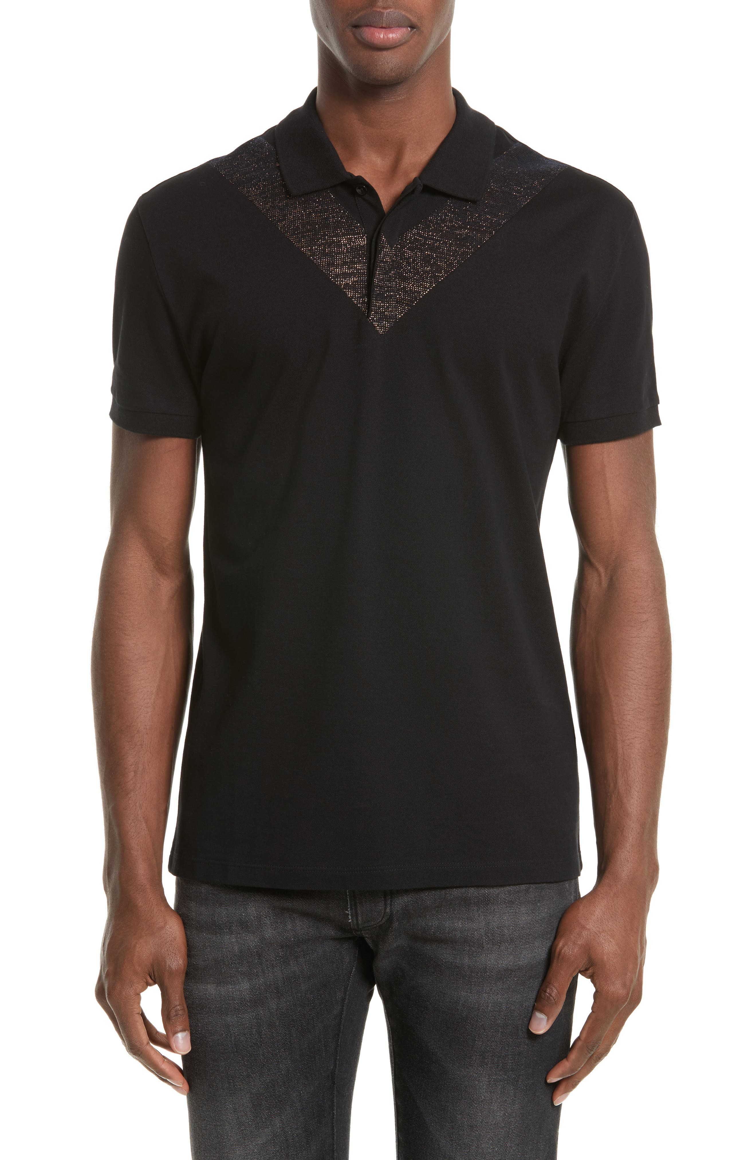Versace Collection Foiled V-Print Polo