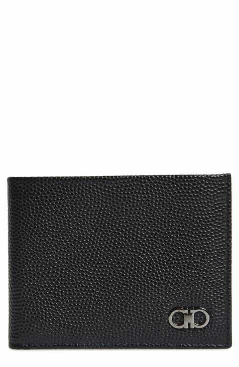 Salvatore Ferragamo 'Ten Forty One' Bifold Textured Leather Wallet