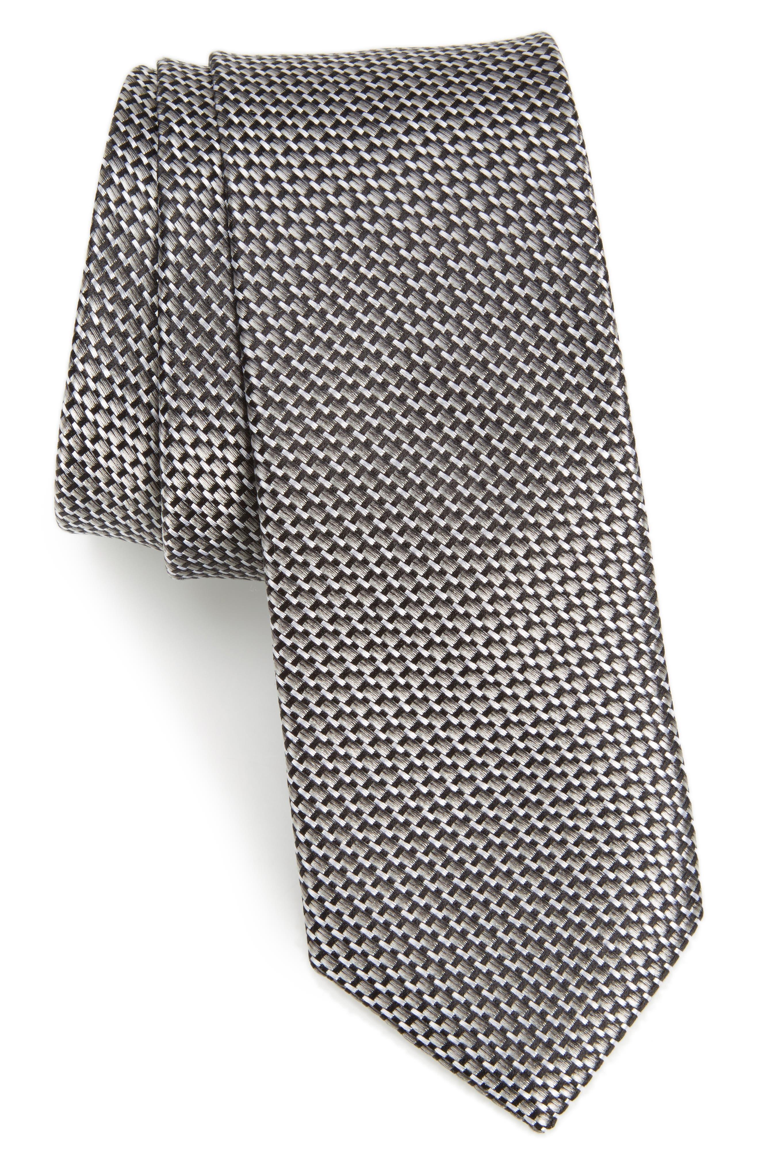 Nordstrom Men's Shop Iris Solid Silk Skinny Tie