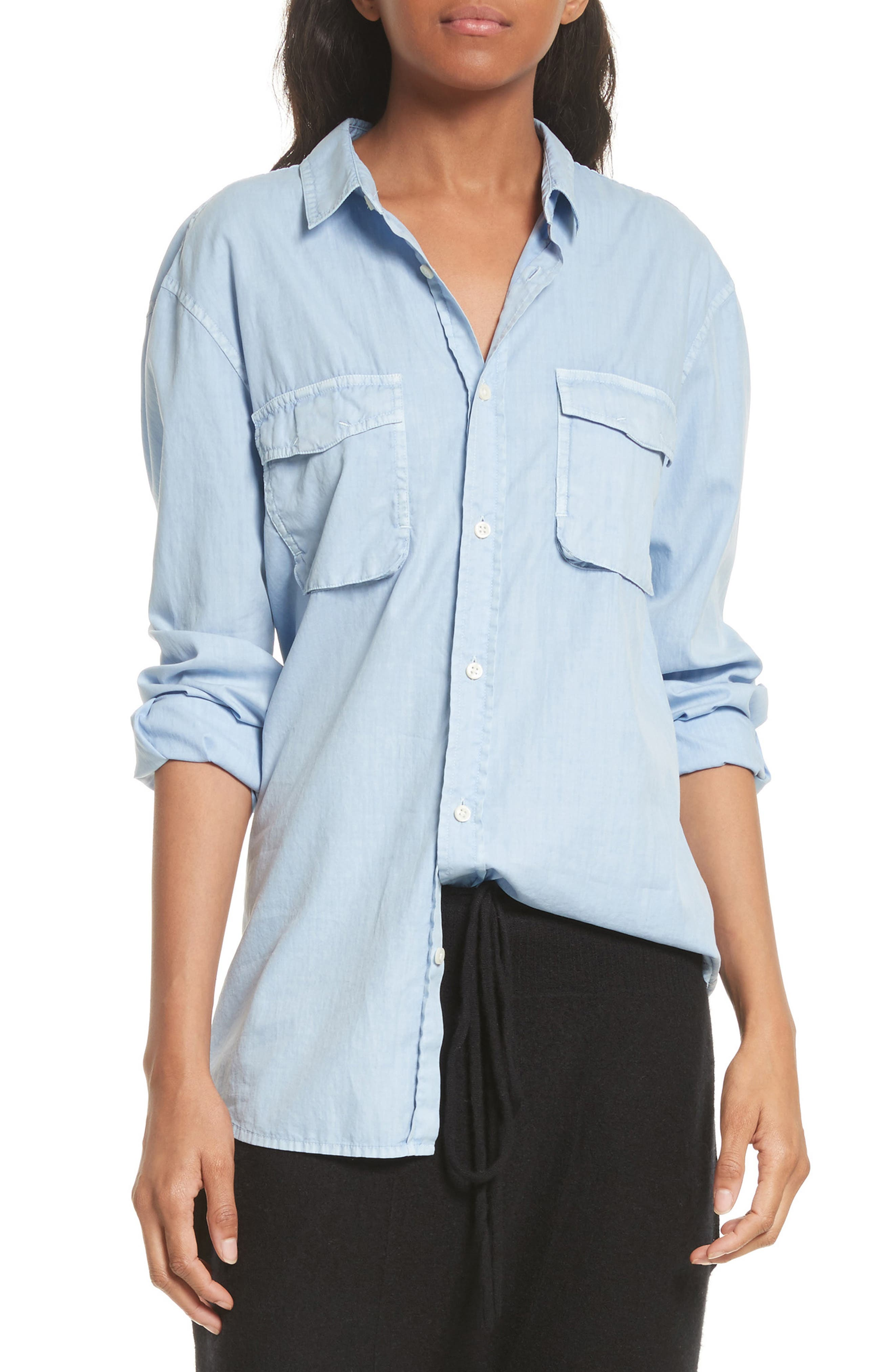 Vince Utility Cotton & Silk Shirt