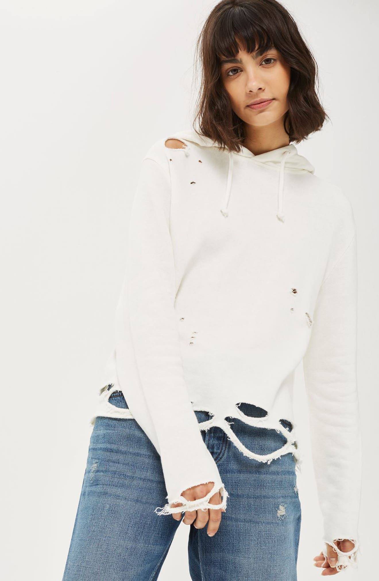 Topshop Hoodie & Jeans Outfit with Accessories