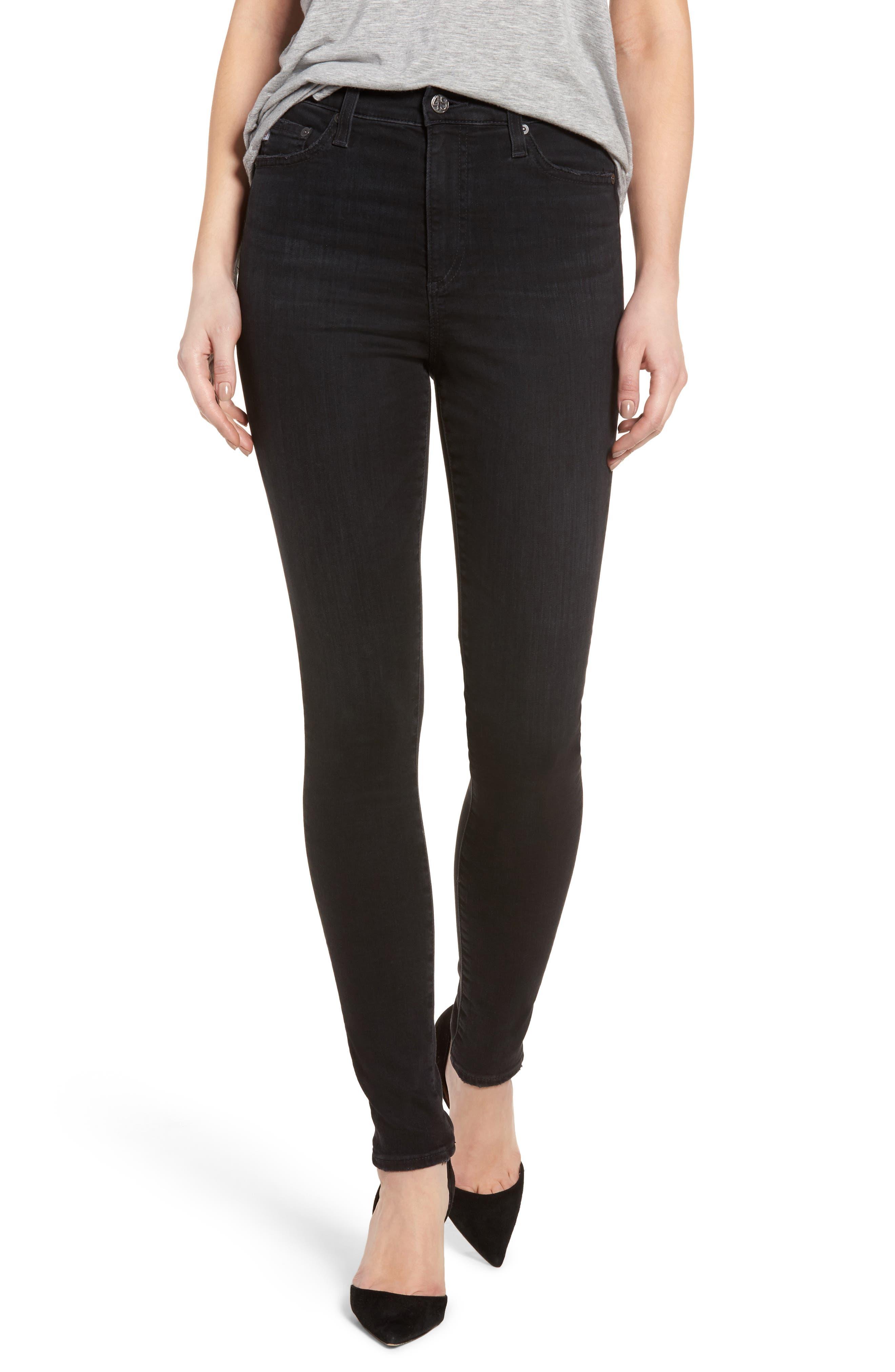 AG Mila Super High Rise Skinny Jeans (03 Years Black Obsidian)