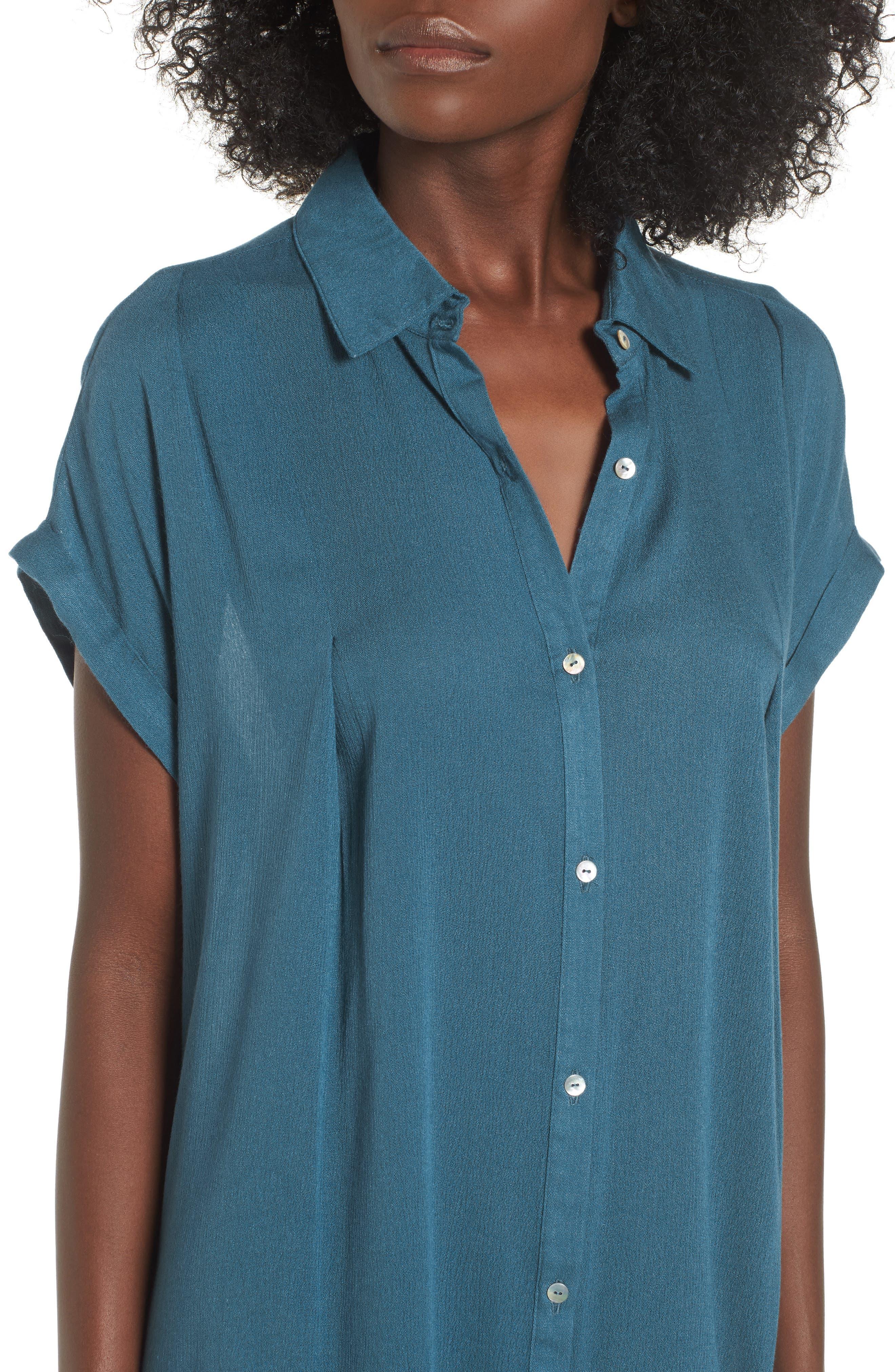 Alternate Image 4  - Dee Elly Gauze Shirtdress
