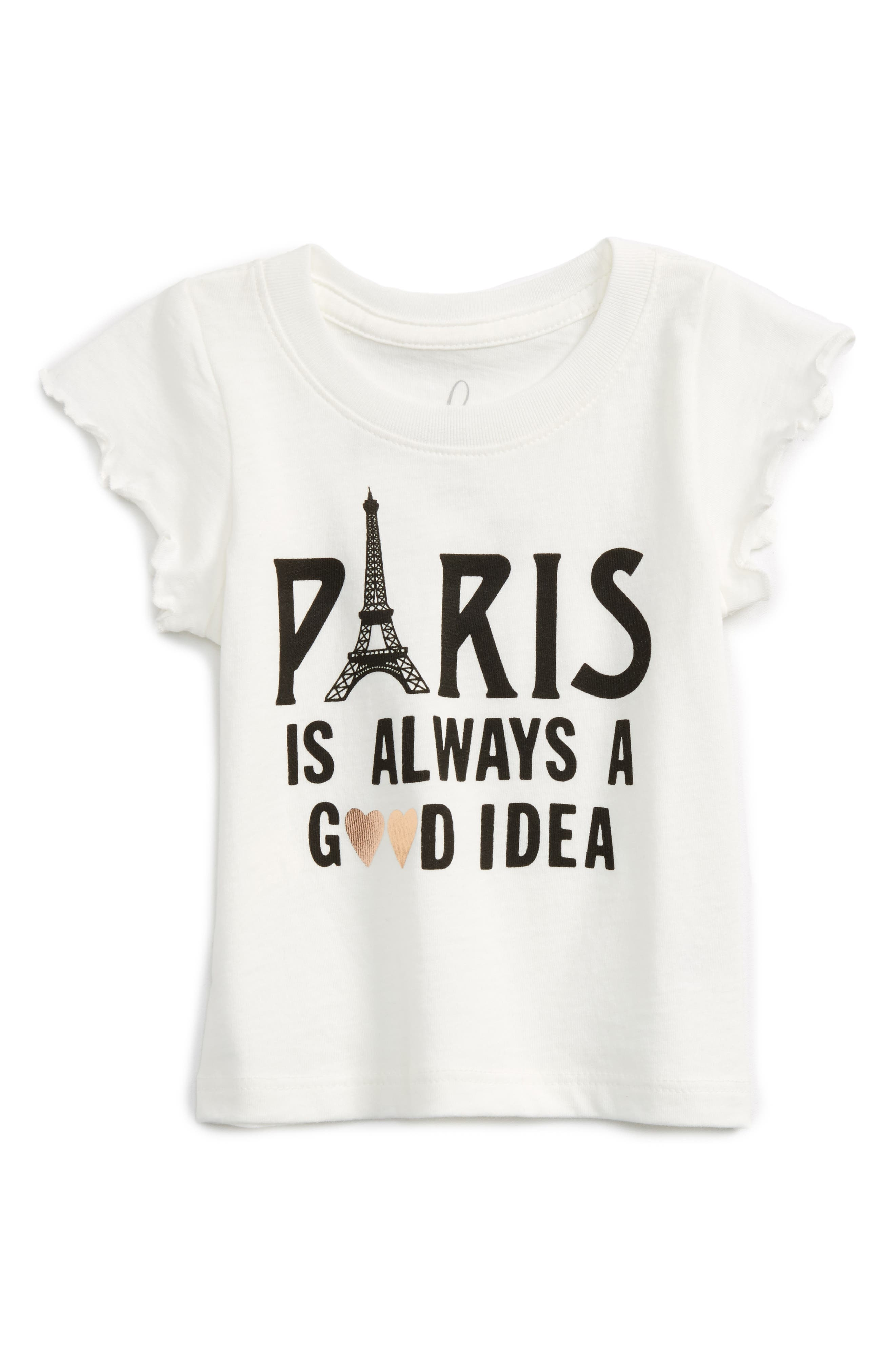 Peek Paris Is Always a Good Idea Tee (Baby Girls)