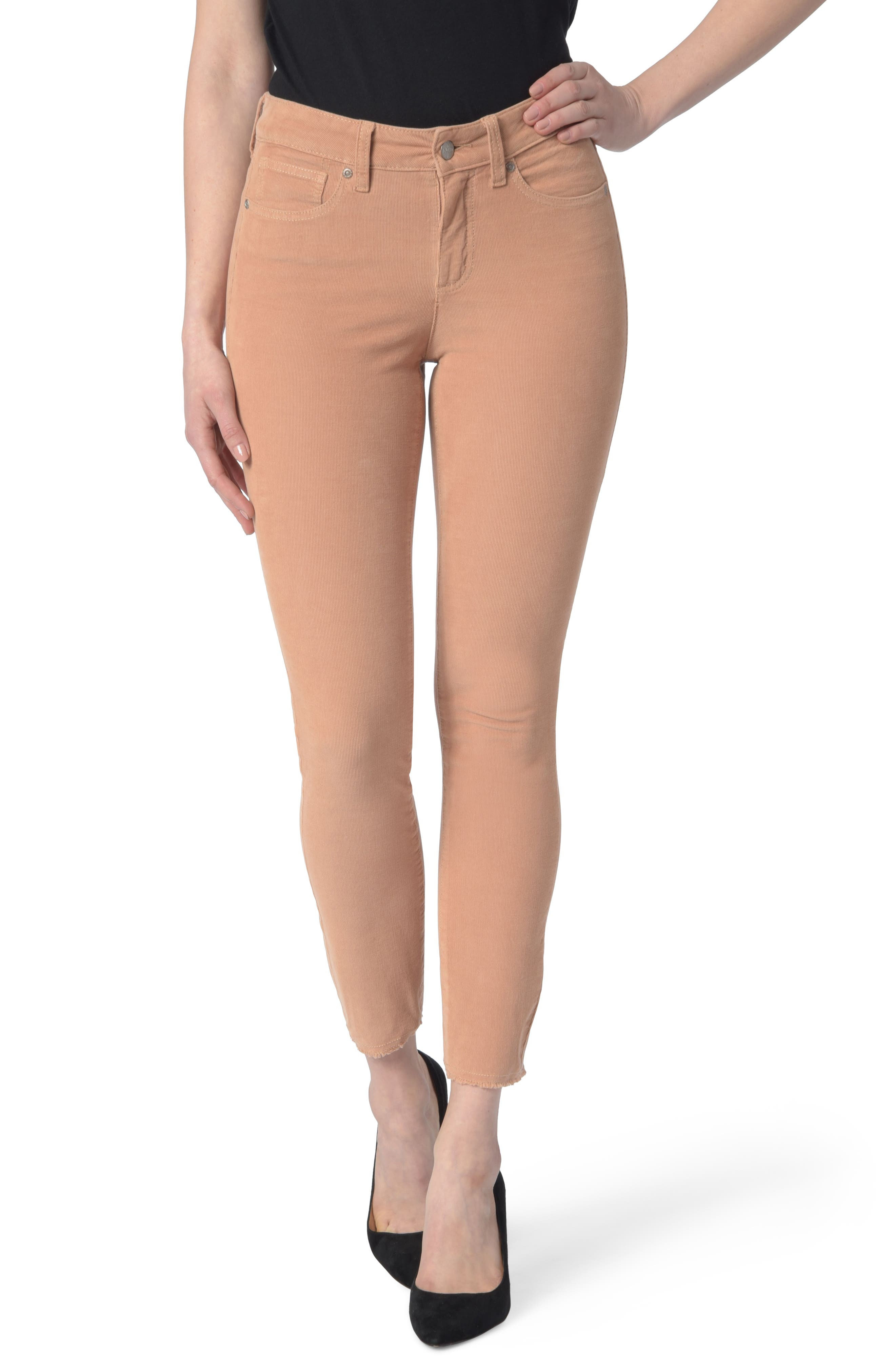 NYDJ Alina Frayed Stretch Corduroy Ankle Jeans