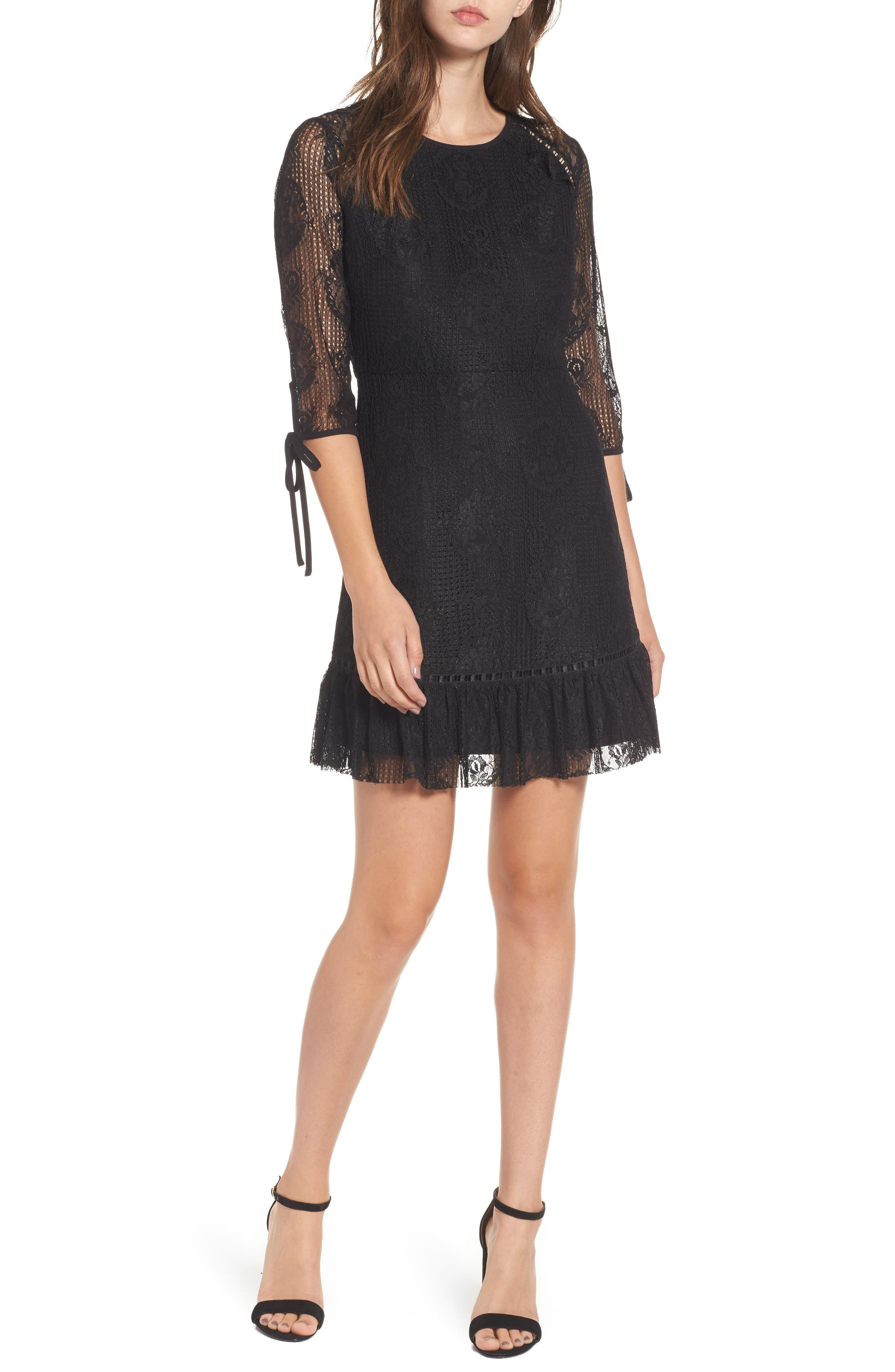 MOON RIVER Open Back Lace Dress