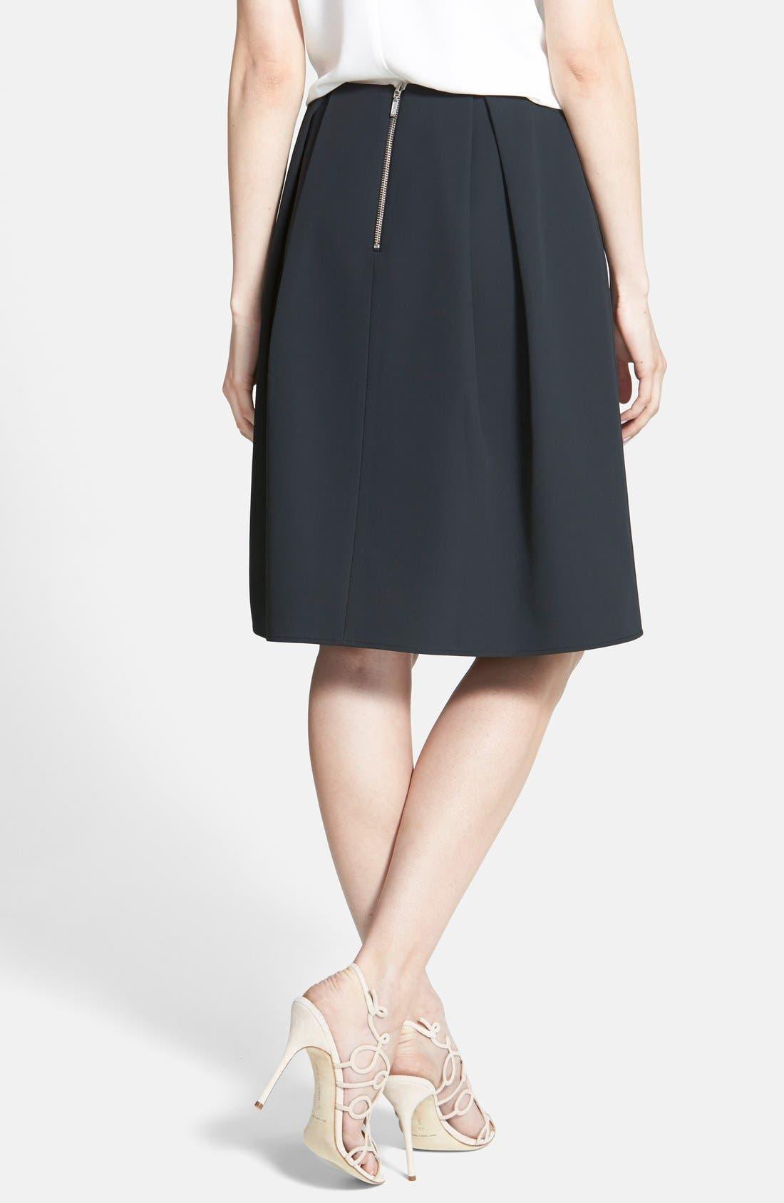 Alternate Image 2  - Chelsea28 Pleated A-Line Skirt